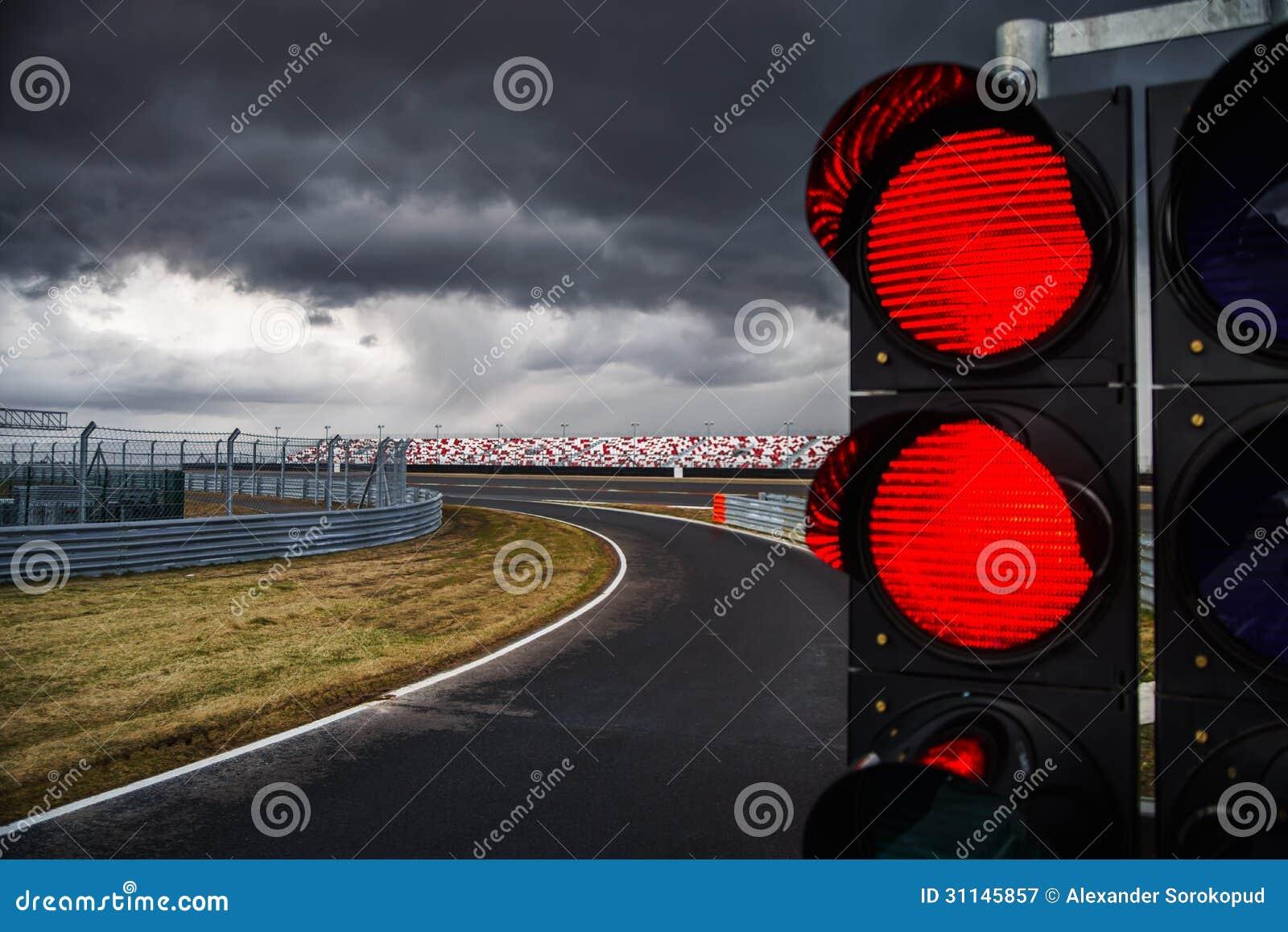 Trafikljus på loppspår