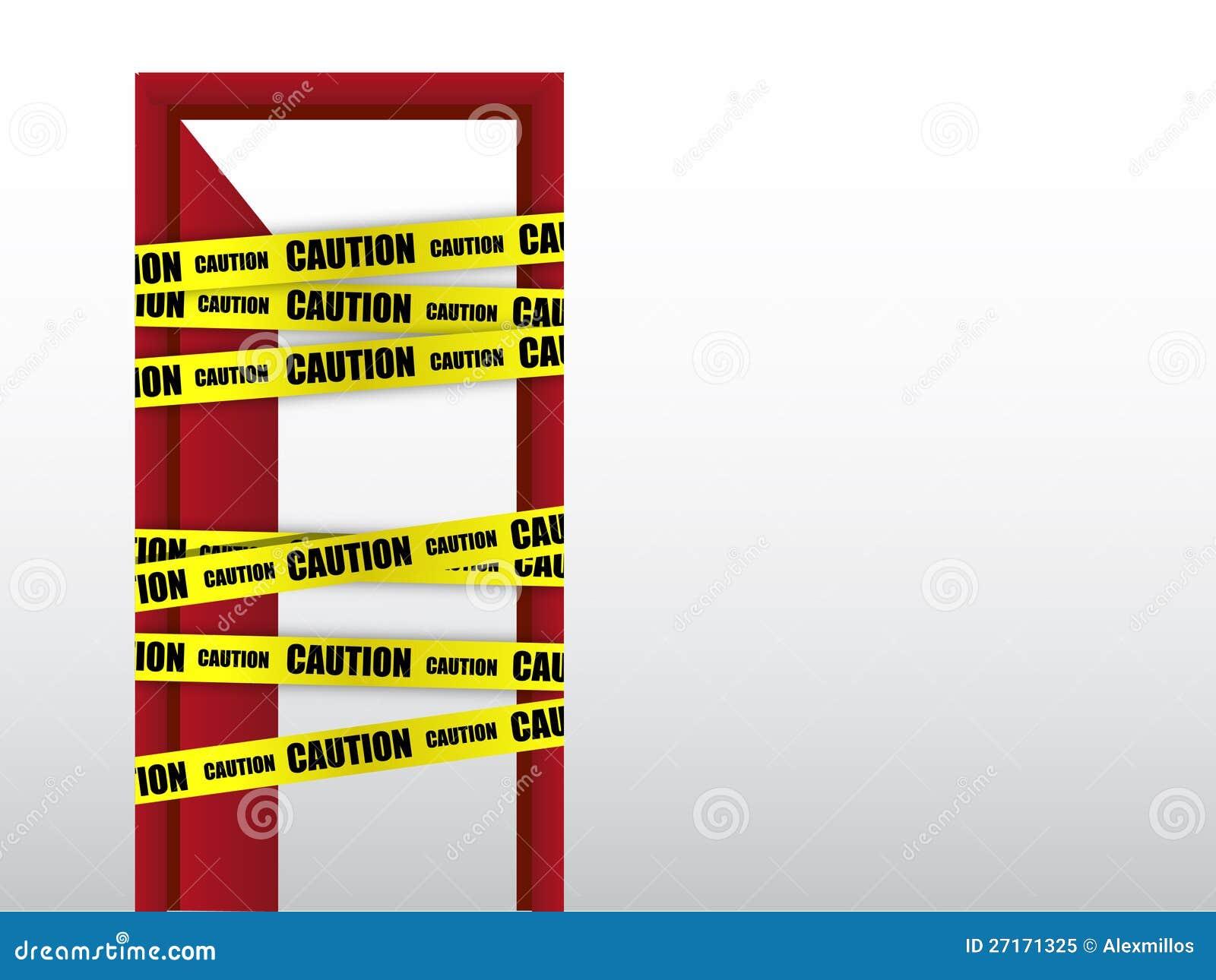 Tragen Sie nicht Achtung mit Türzeichen ein