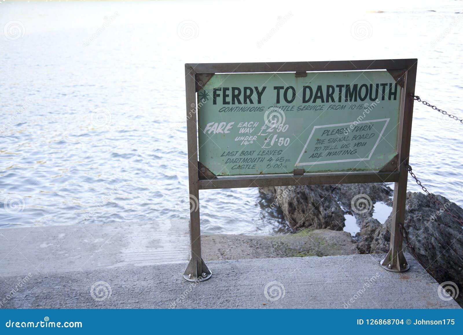 Traghetto di Dartmouth al segno di Kingswear