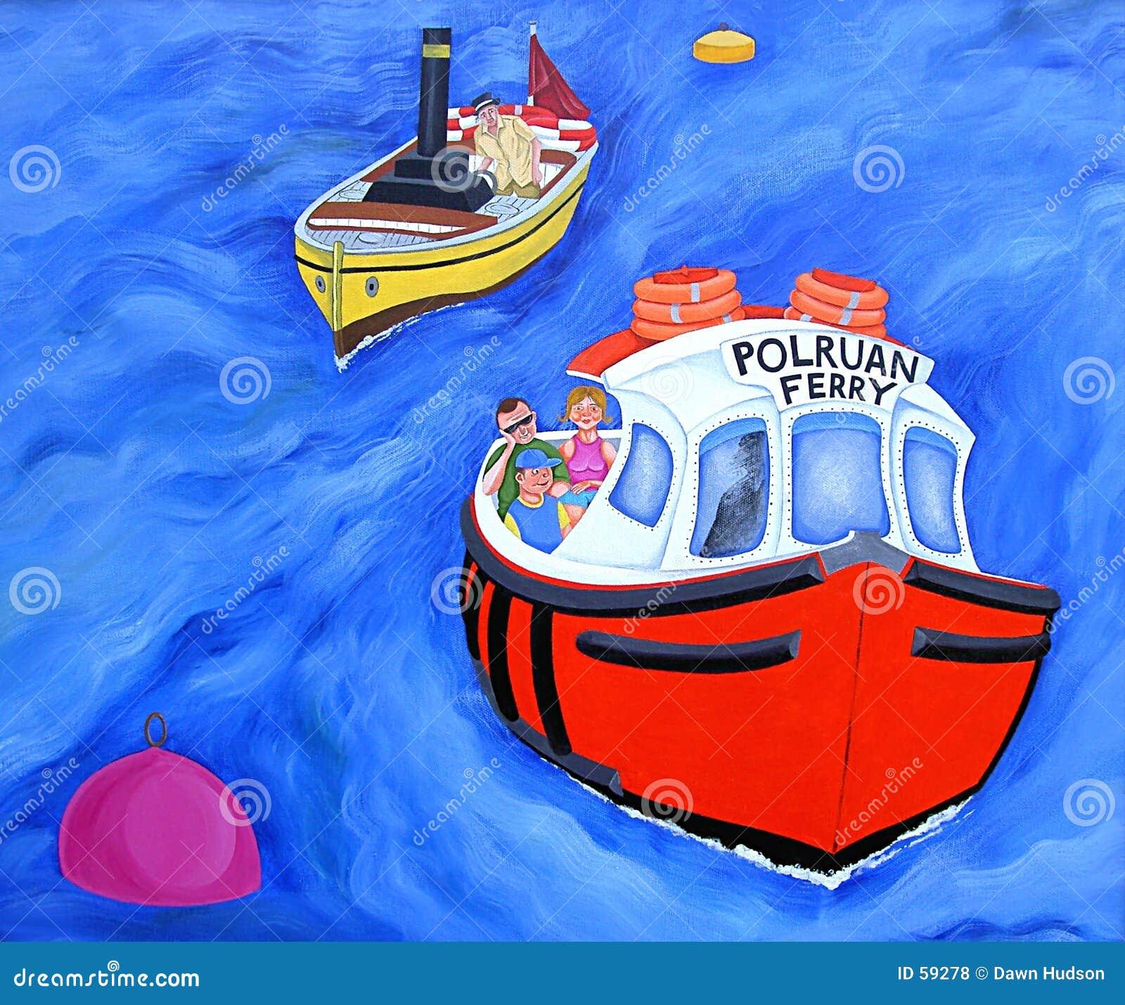 Download Traghetto di Polruan illustrazione di stock. Illustrazione di famiglia - 59278