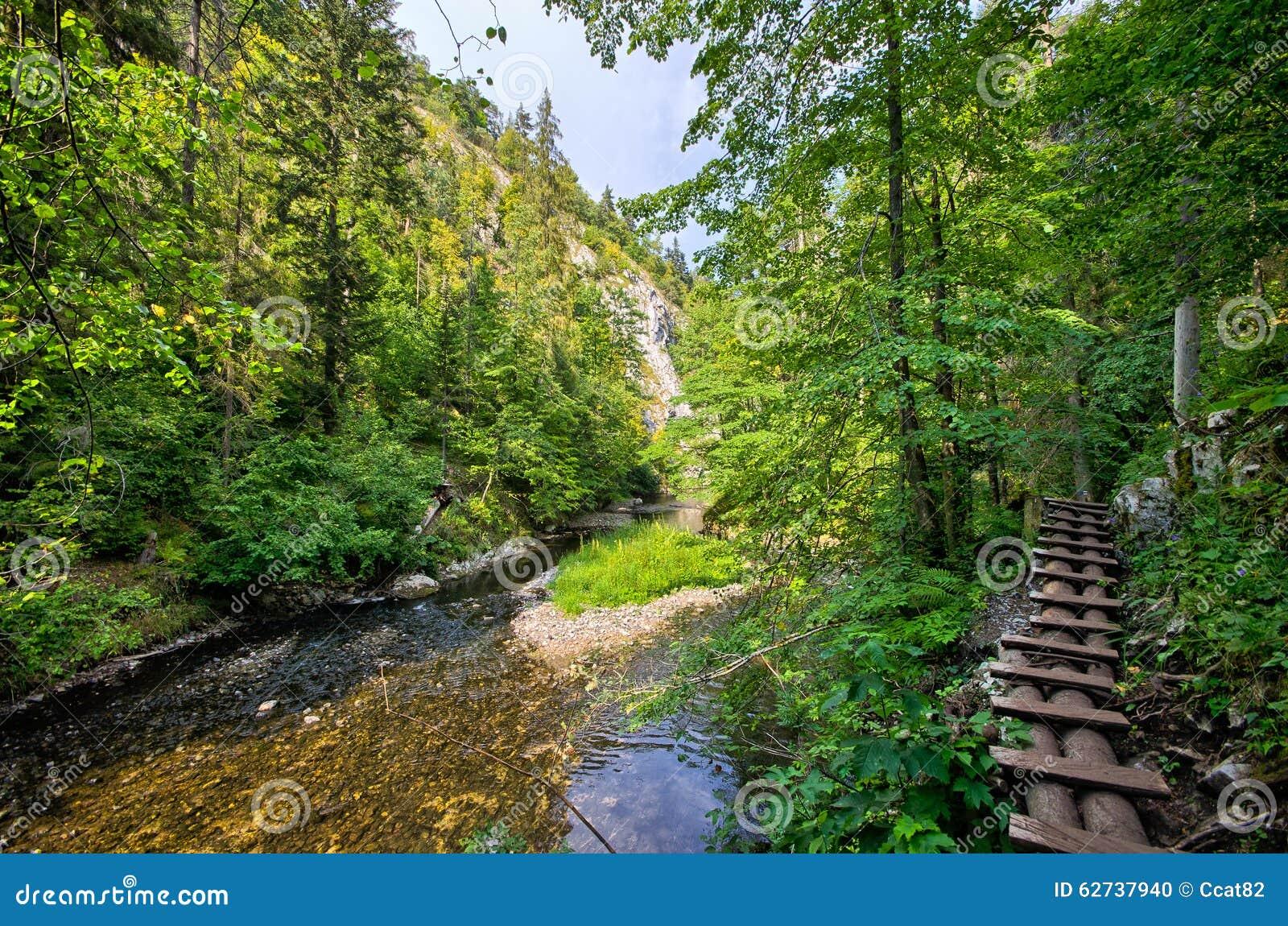 Trail along the Hornad river, Slovak Paradise