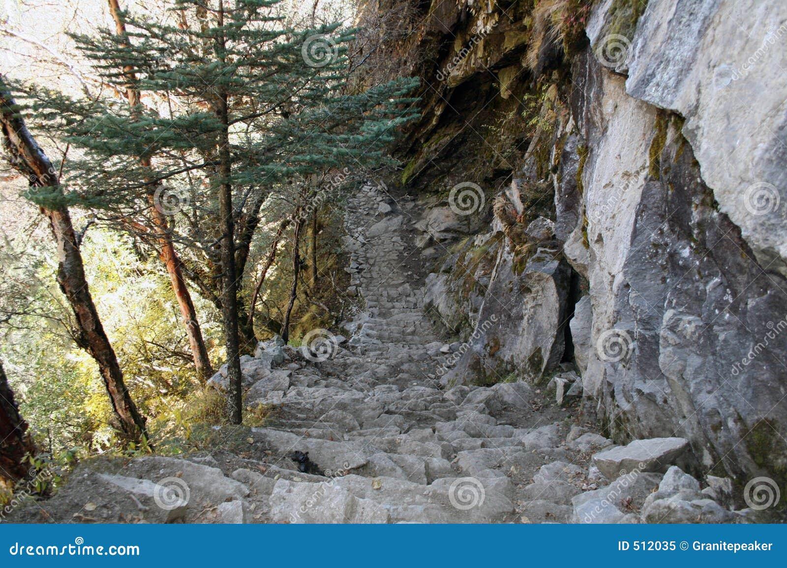 Trail för nepal phortsetenga