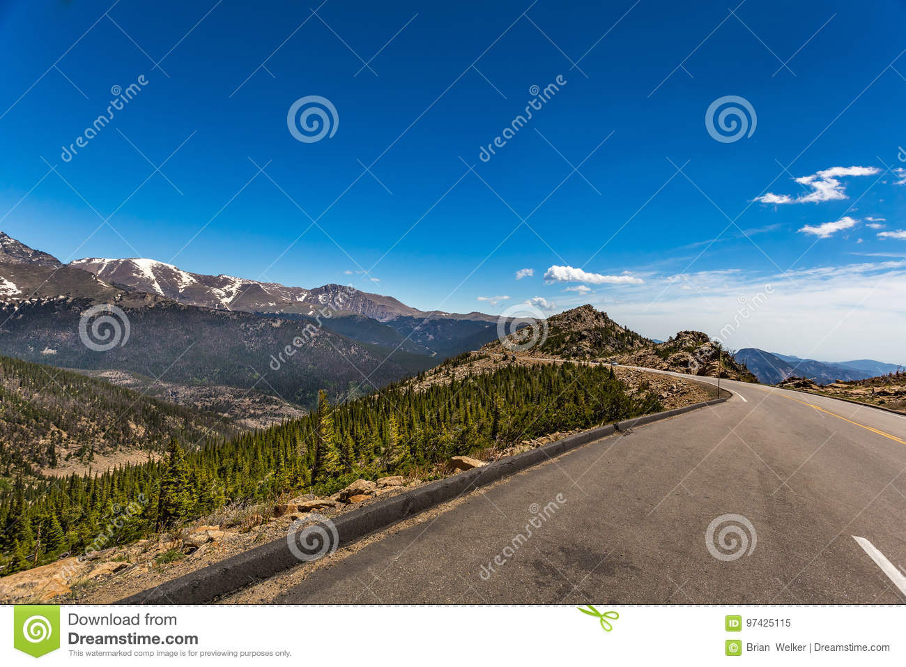 Trail Ridge Road In Rocky Mountain National Park Stock Image