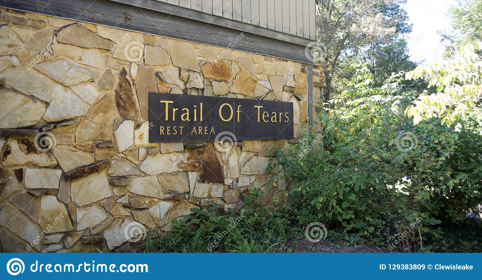 Trail Of Tears Rest Area Illinois Editorial Stock Image