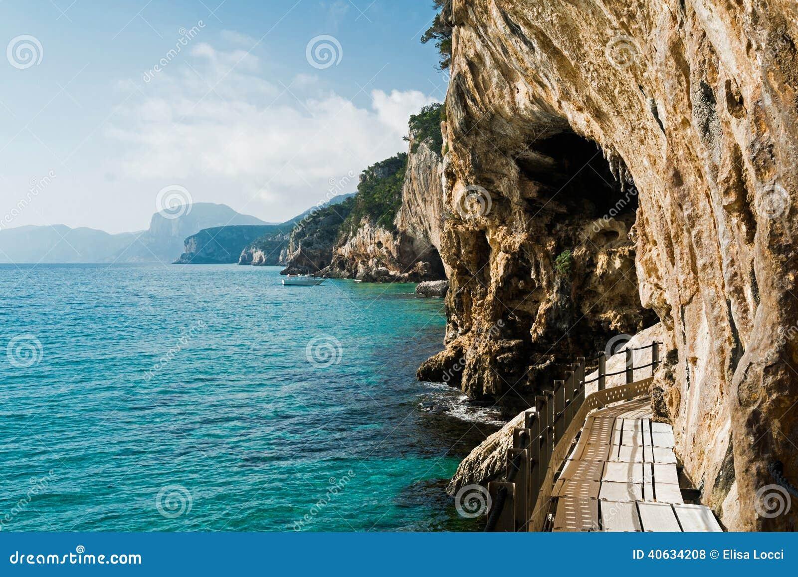 Cala Gonone Italy  city photos : Trail to grotta del Bue Marino in Cala Gonone, Sardinia, Italy.