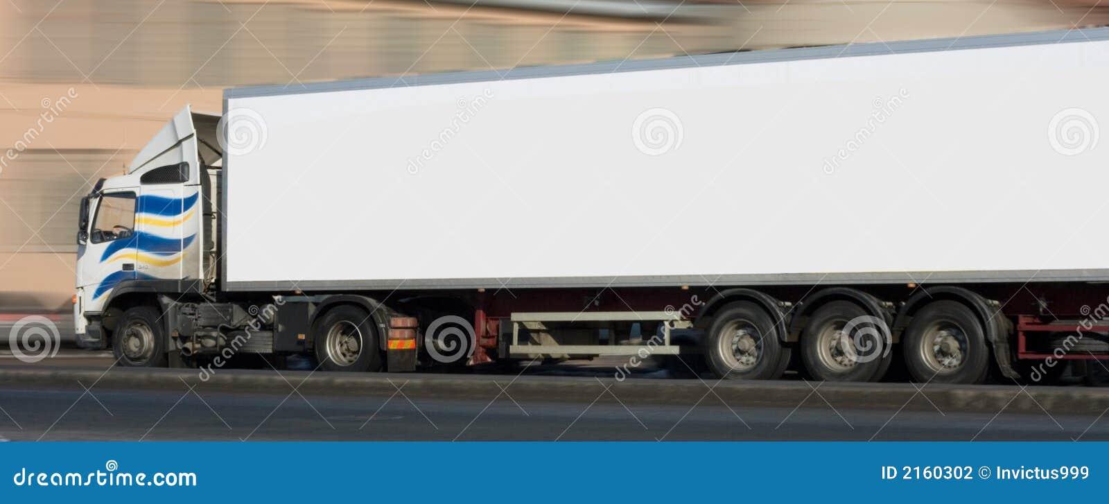 Traile white för halv traktor