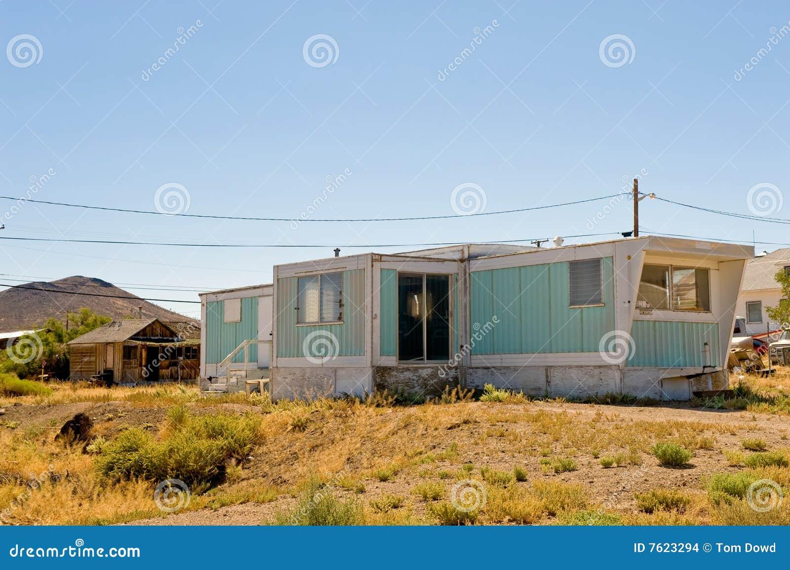 Trailer In Goldfield Desert Stock Photo - Image: 7623294
