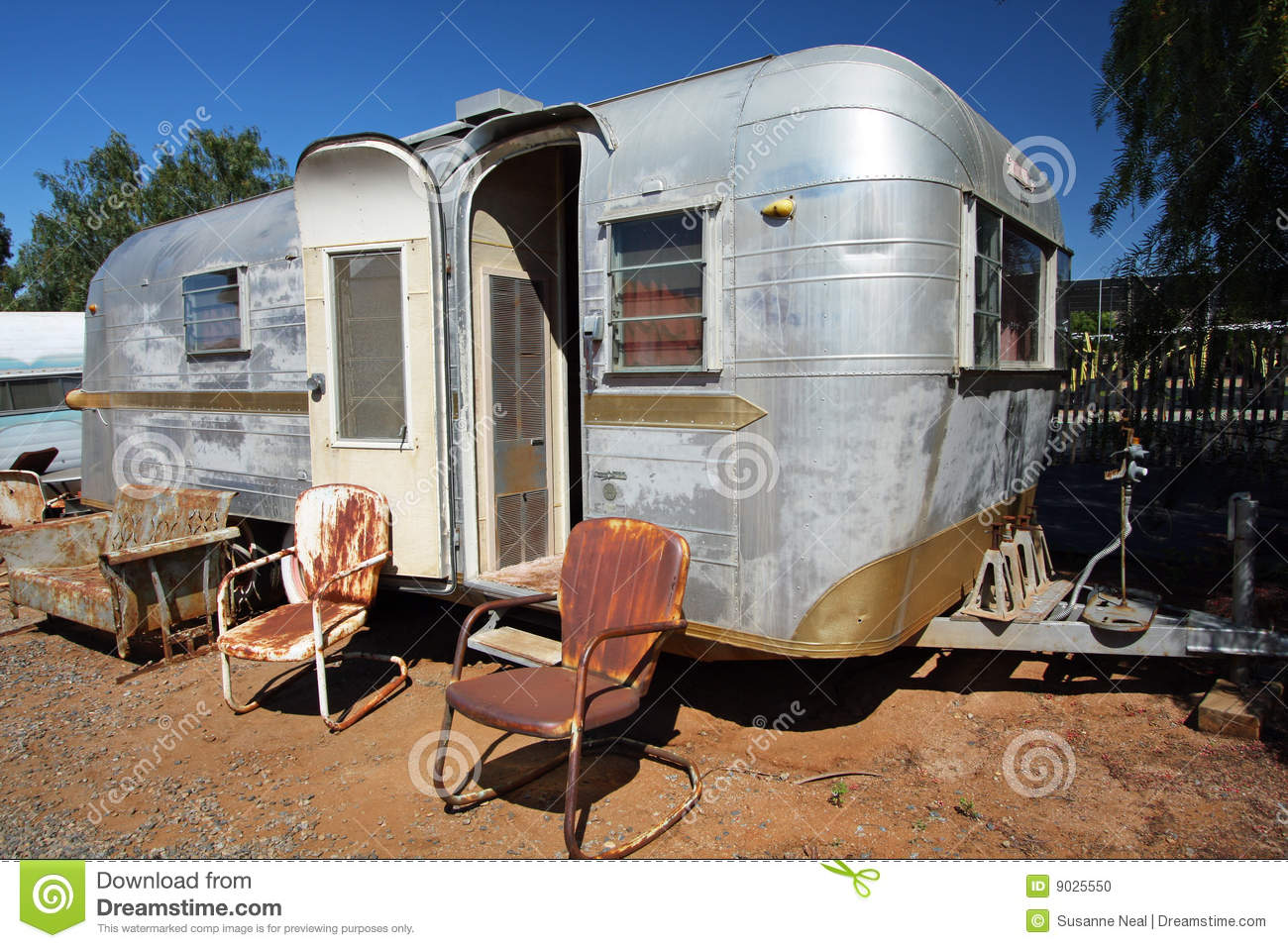 Trailer Home With Windows Stock Image