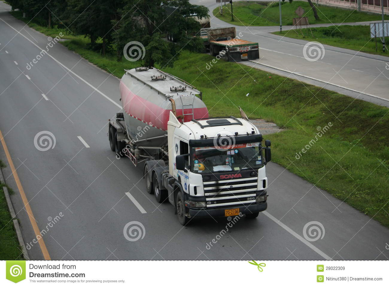 Download Trailer Truck, Cement Container. Editorial Stock Image - Image of chiangmai, commute: 28022309