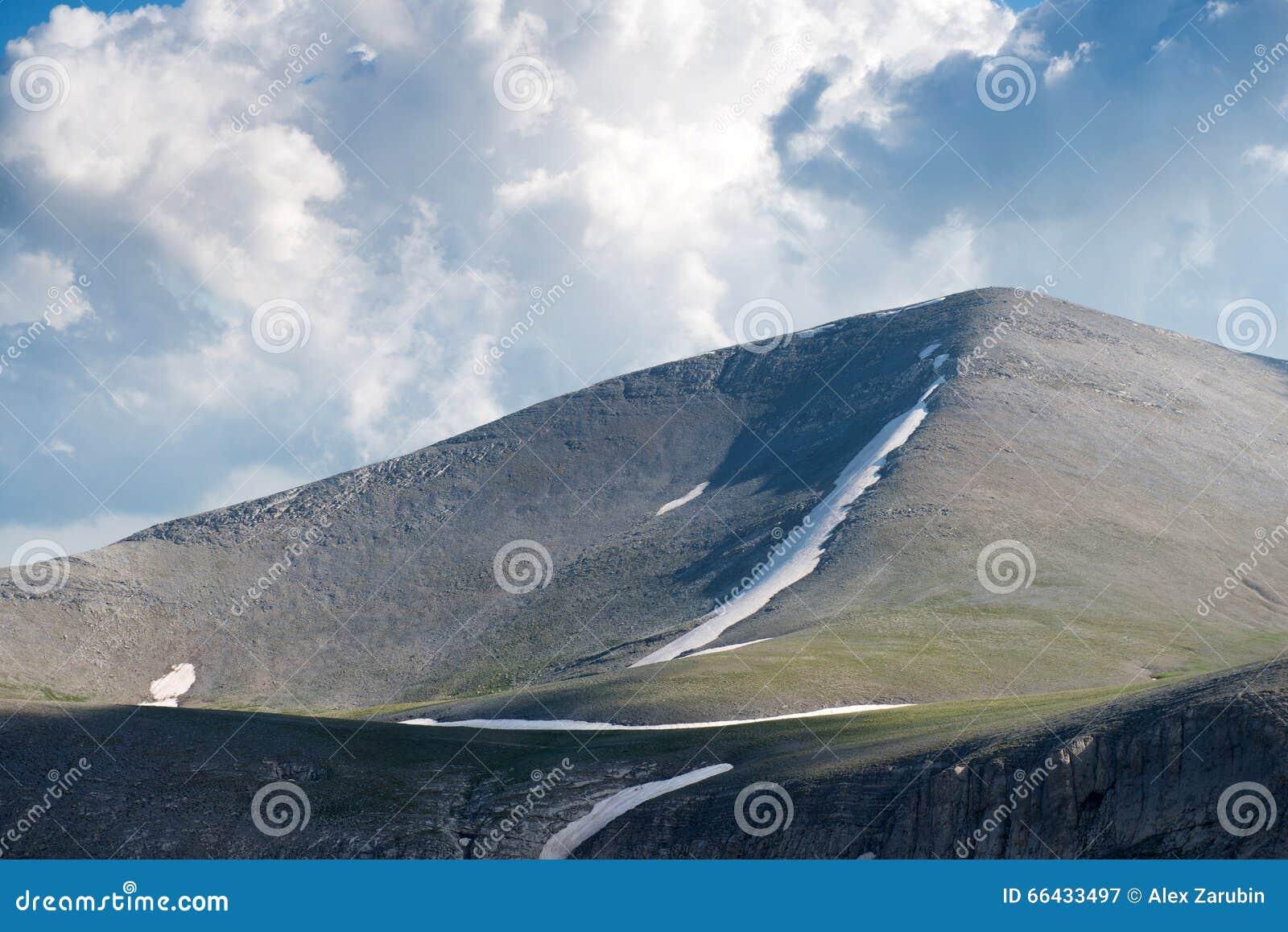 Trailway na szczycie góra Olympus
