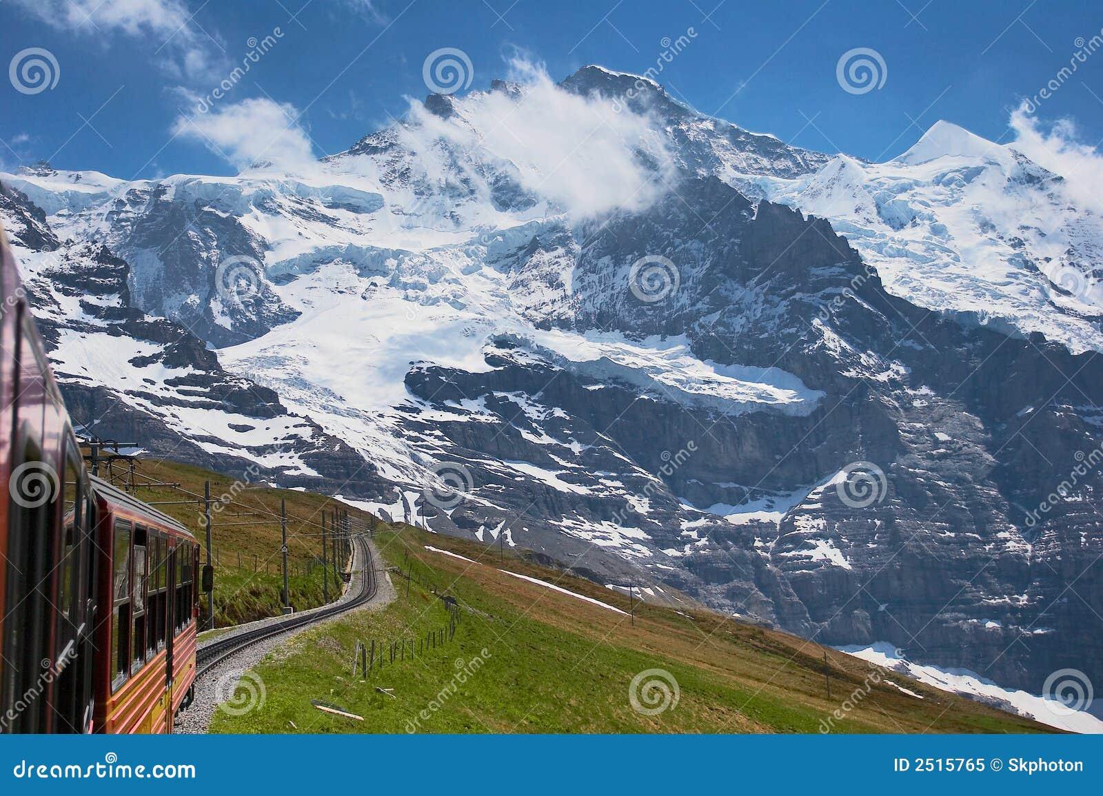 Train through the Alps