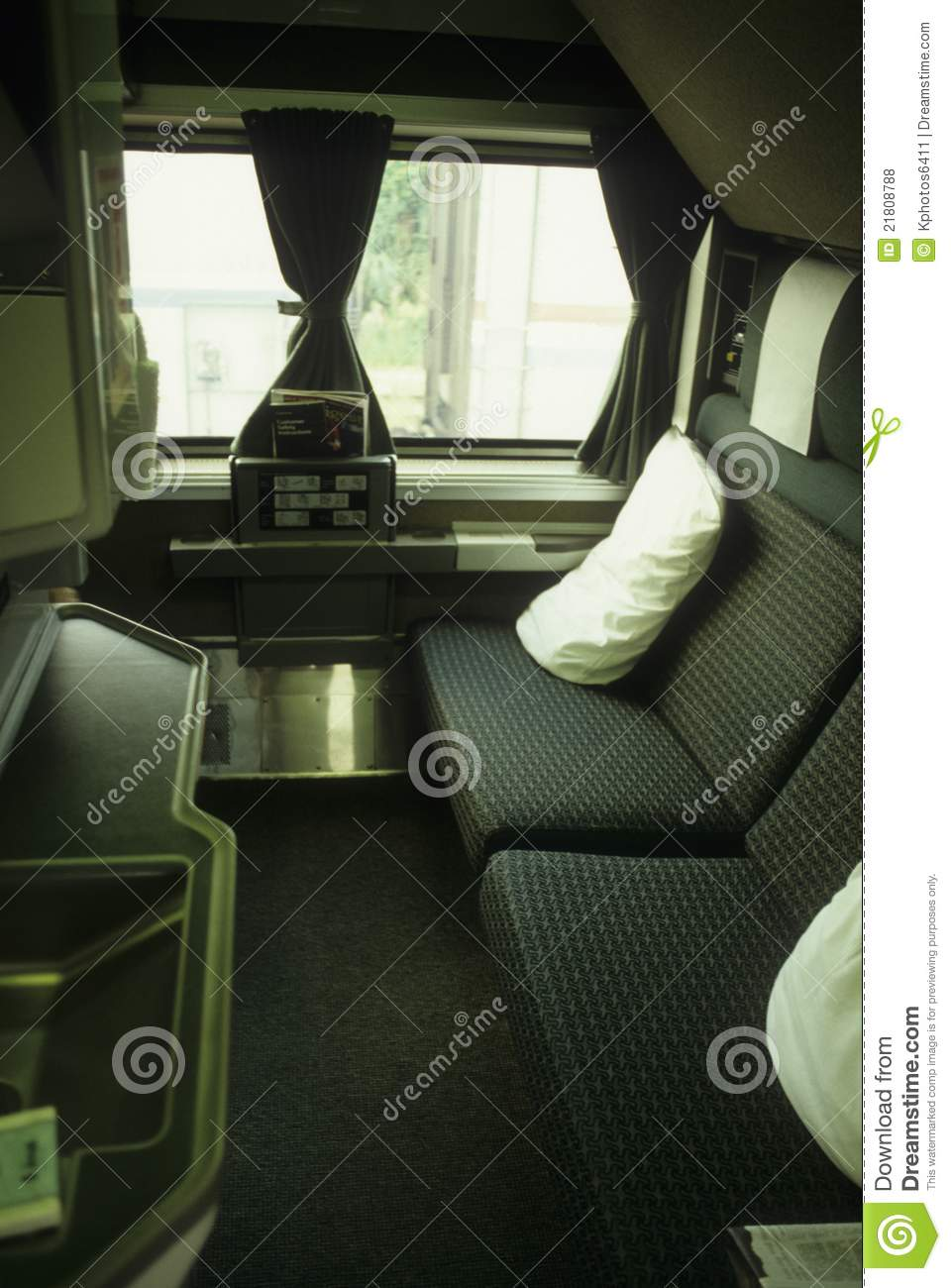 train amtrak first class cabin editorial stock photo