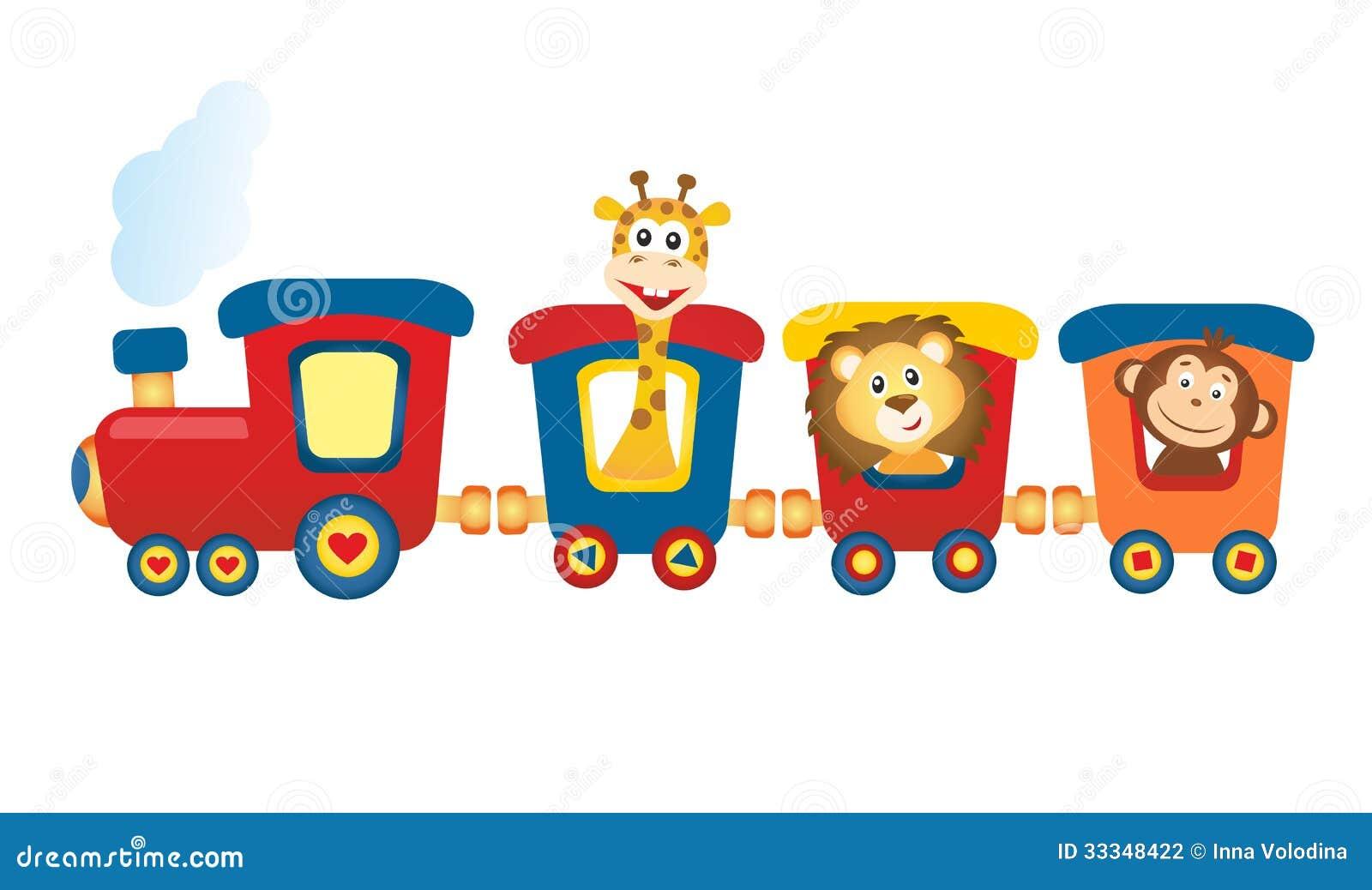 Train with animals stock illustration. Illustration of ...