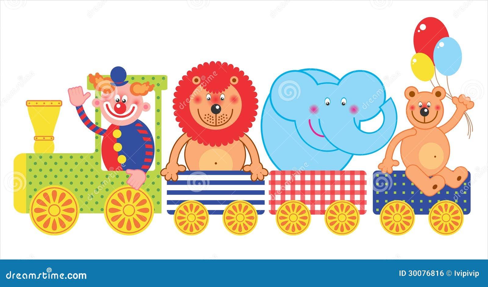 Train de cirque photo stock. Image du clown, train, cirque ...