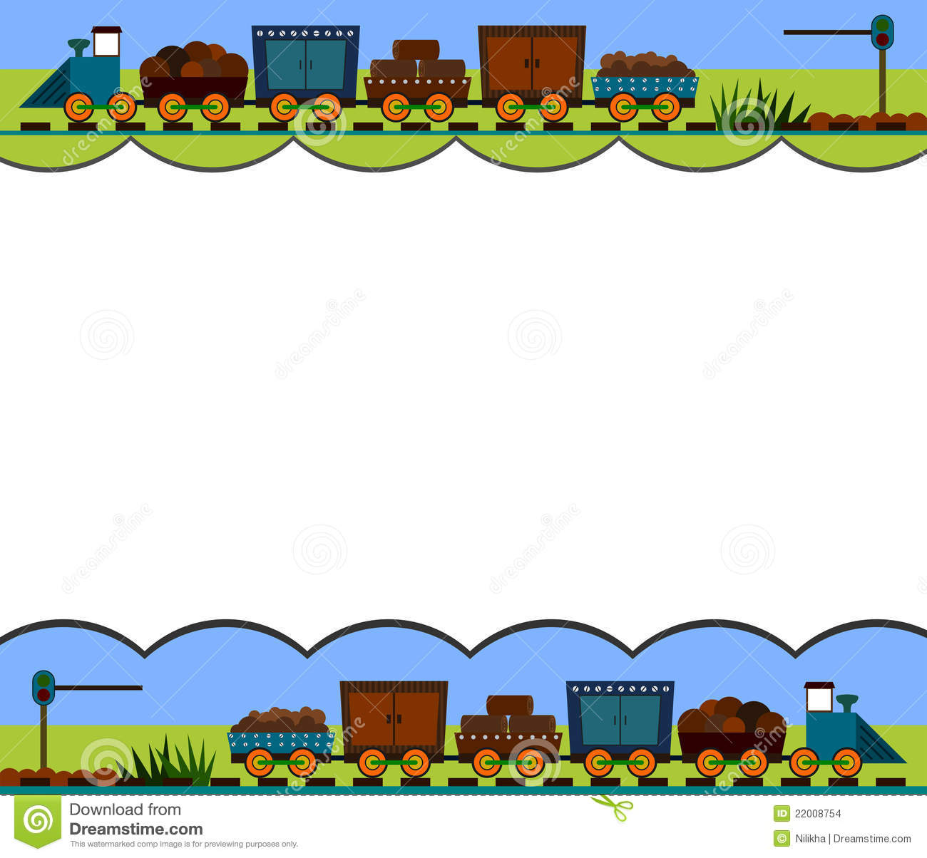 Train border stock illustration. Illustration of ...