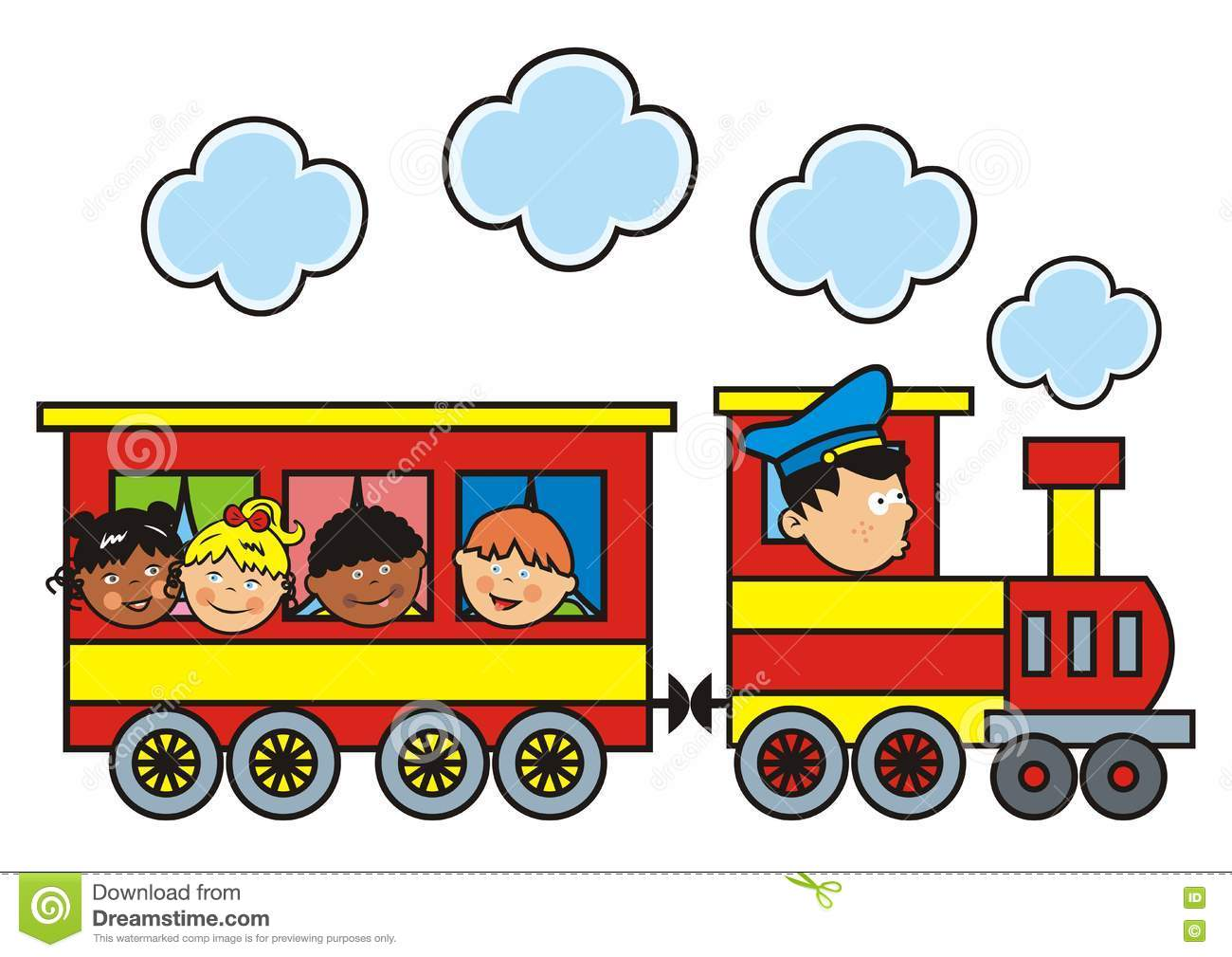 Train And Children Stock Vector Illustration Of Isolated 71368491