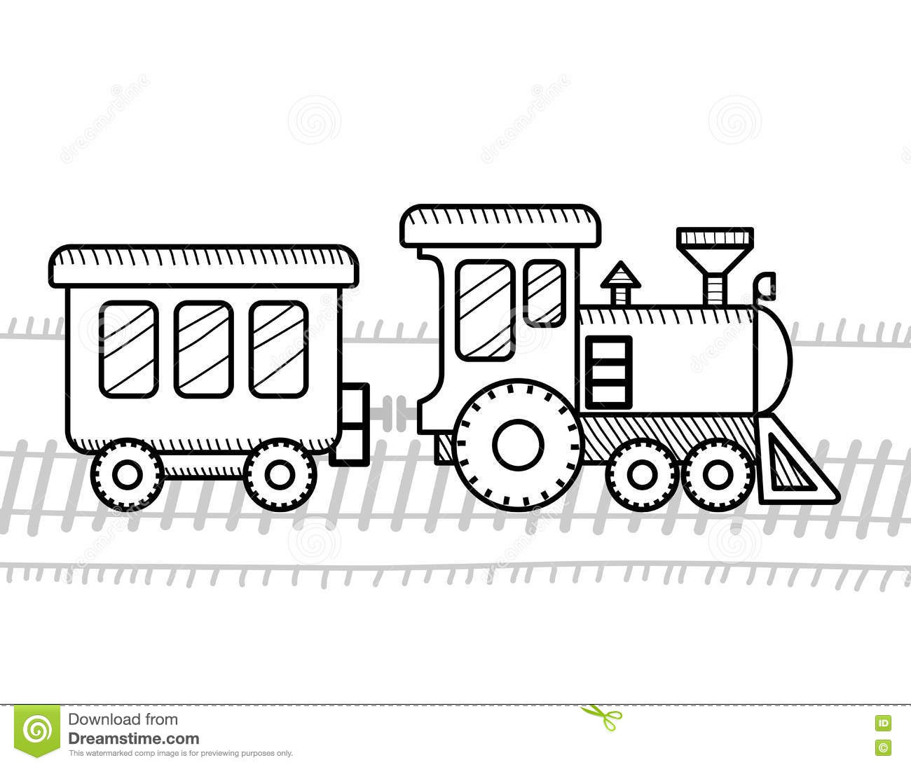 Train Coloring Book For Kids Stock Vector - Illustration of symbol ...