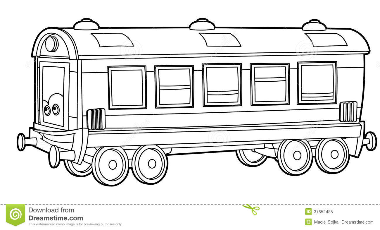 train coloring page for the children royalty free stock photo