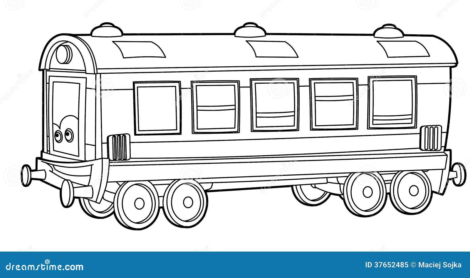 Карандашом нарисованный поезд с вагонами