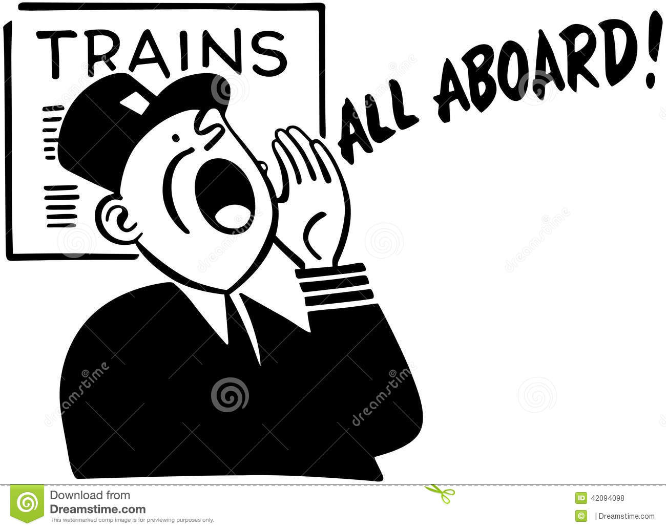Train Conductor stock vector. Illustration of hats ...