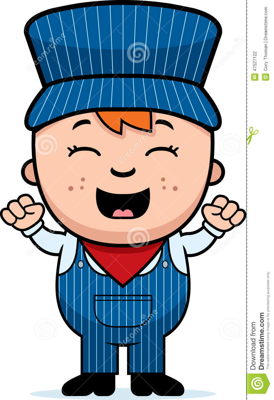 train conductor excited stock vector image of person train conductor hat clipart railroad conductor clipart