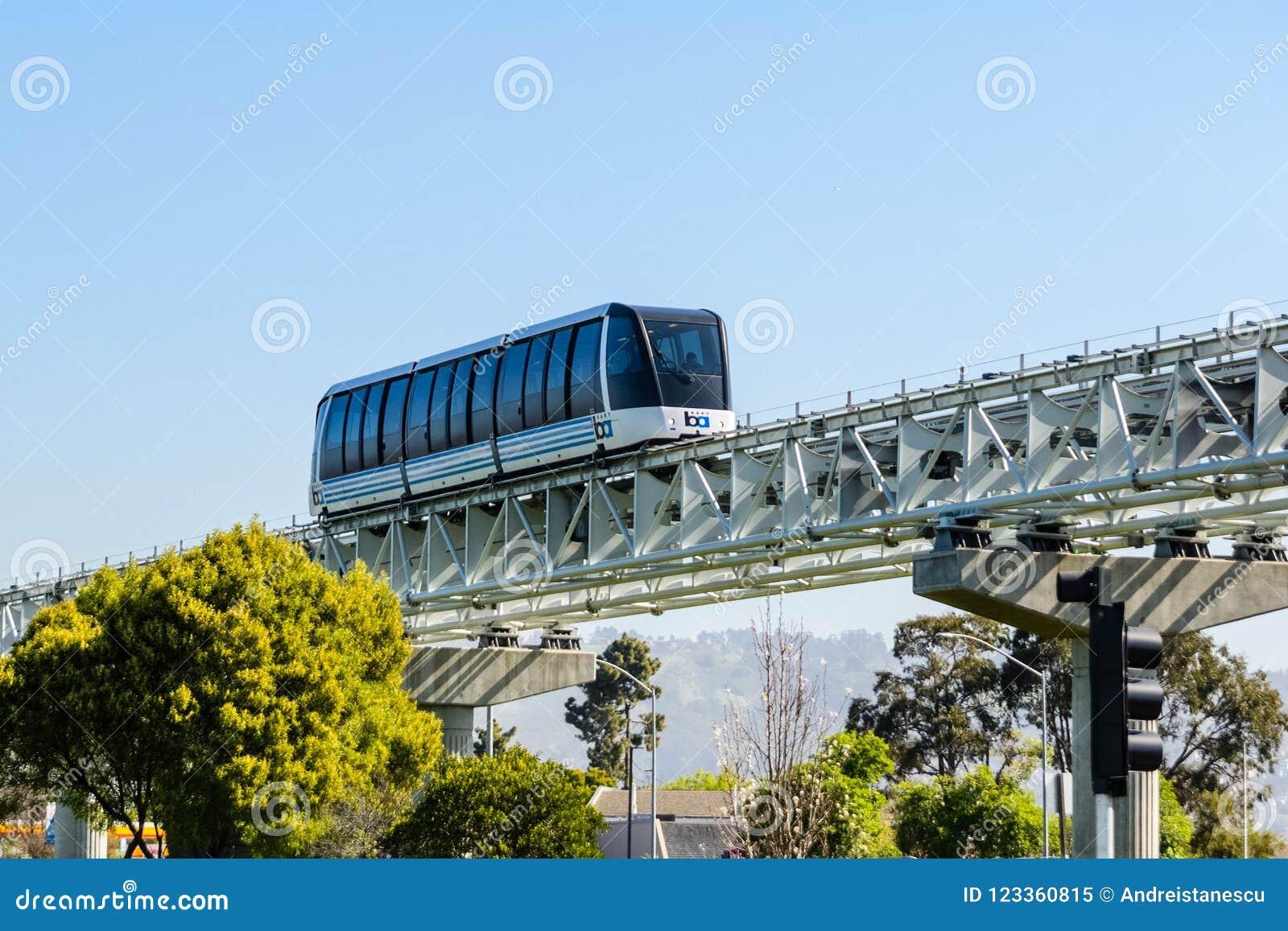 Train de BART, Oakland