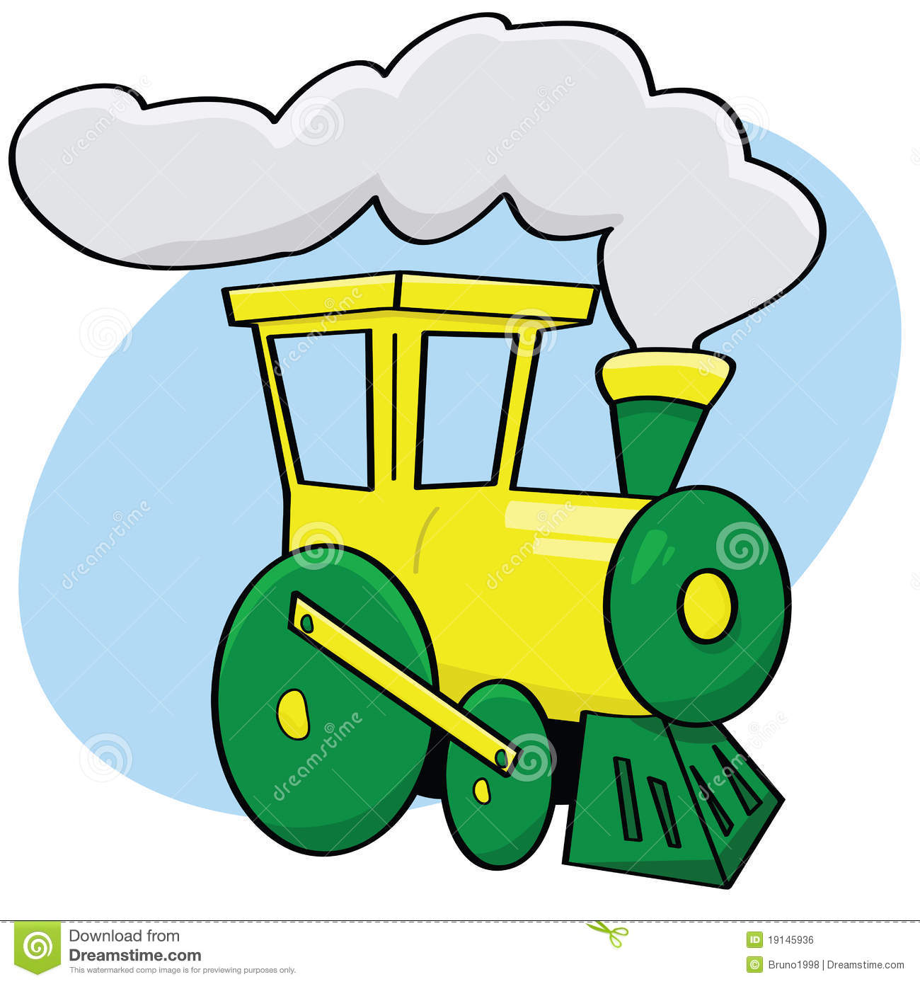 Train de dessin anim image libre de droits image 19145936 - Train dessin anime chuggington ...