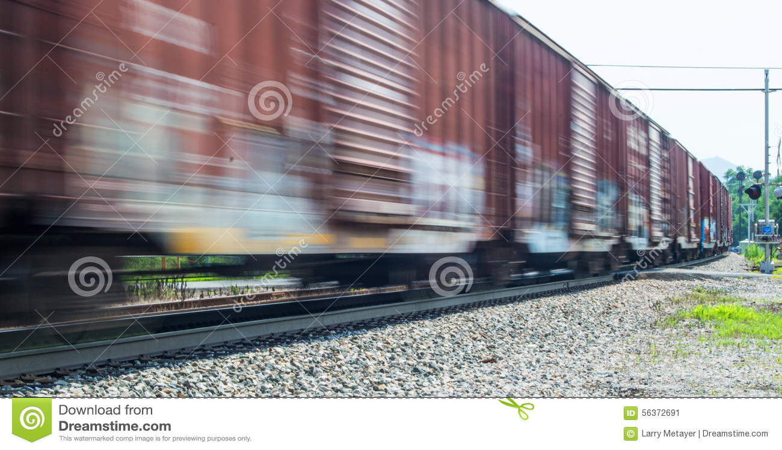 Train de fret expédiant