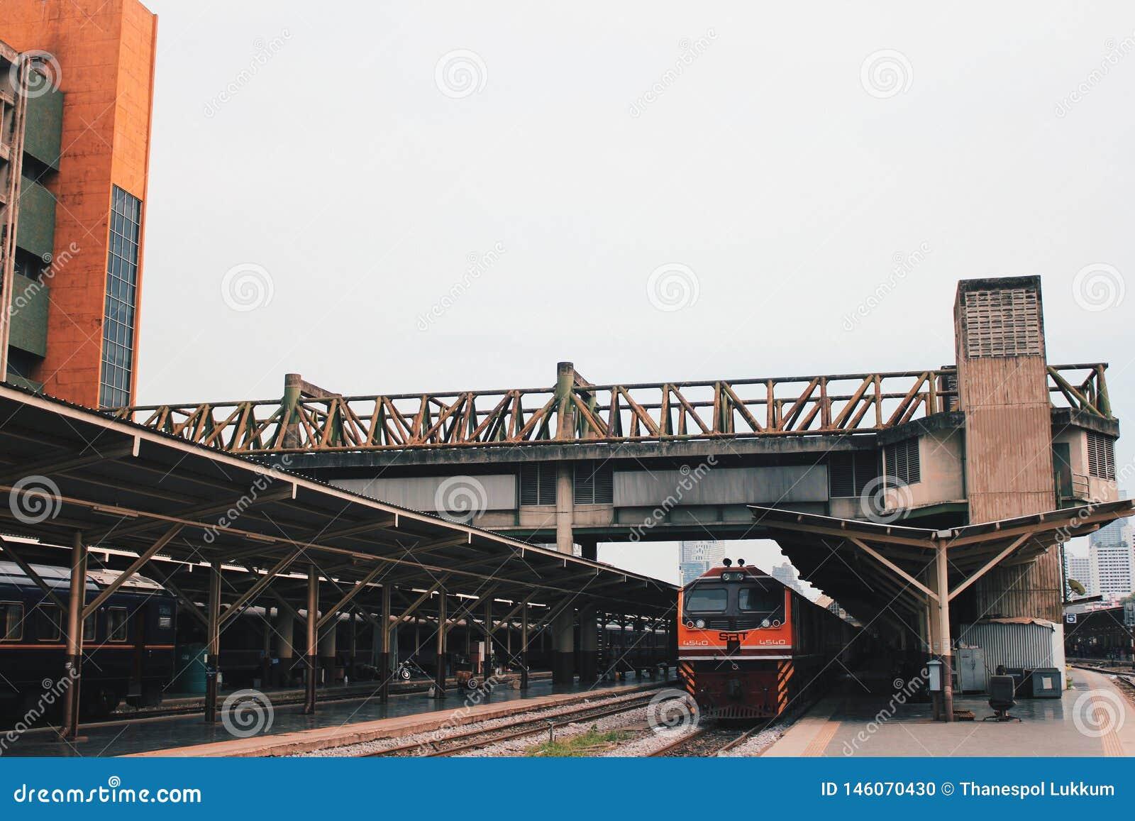Train de gare ferroviaire