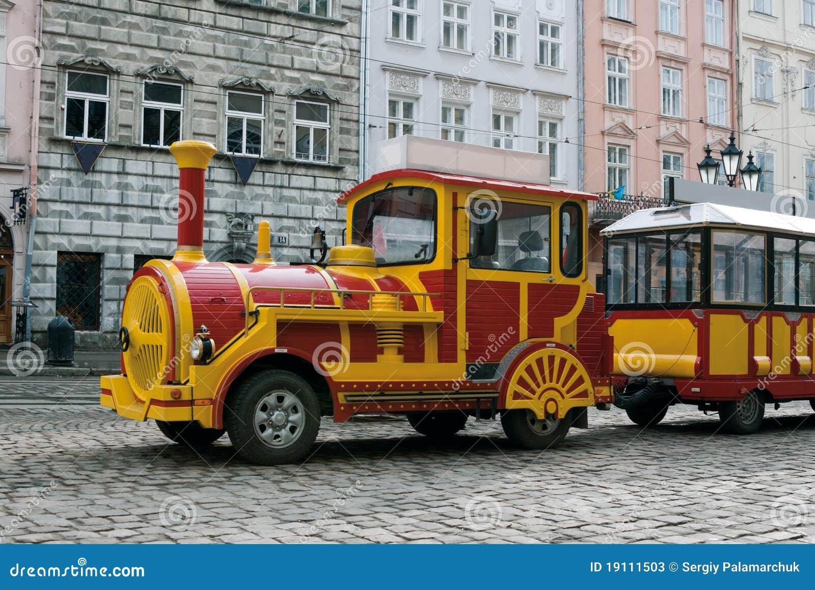Train de véhicule guidé