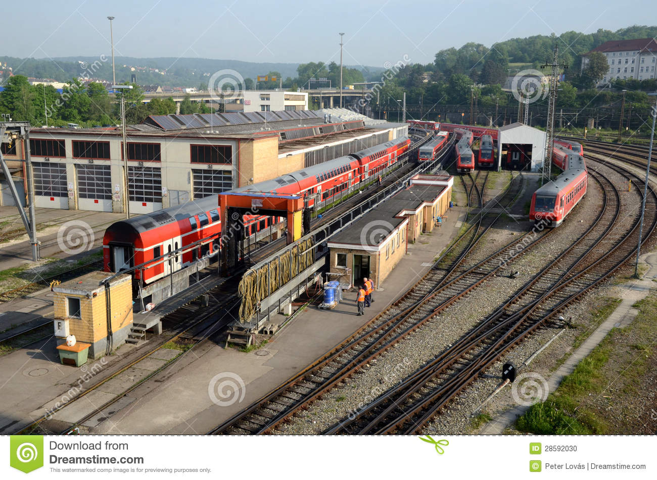 Train Depot And Wash Wagons Editorial Image Image Of Atomizer