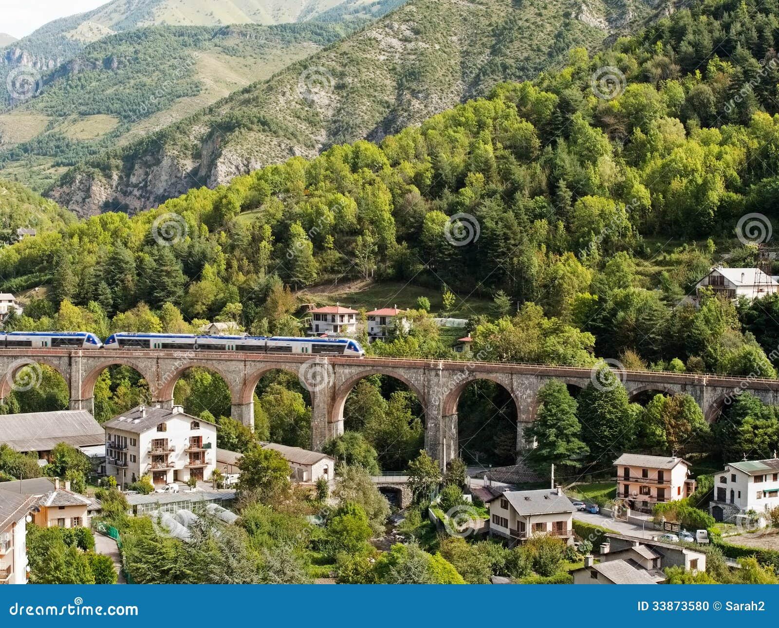 The Train Des Merveilles Near Tende Provence France