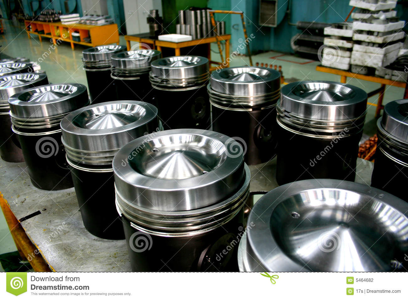 Train Diesel Engine Pistons Stock Photography - Image: 5464682