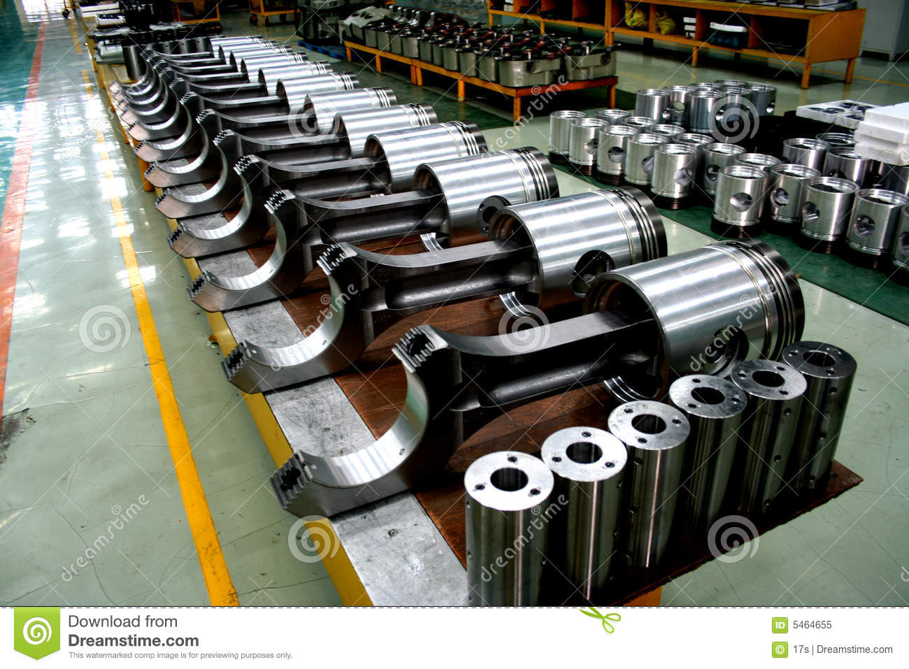 train diesel engine pistons on the product line royalty free stock photo image 5464655. Black Bedroom Furniture Sets. Home Design Ideas