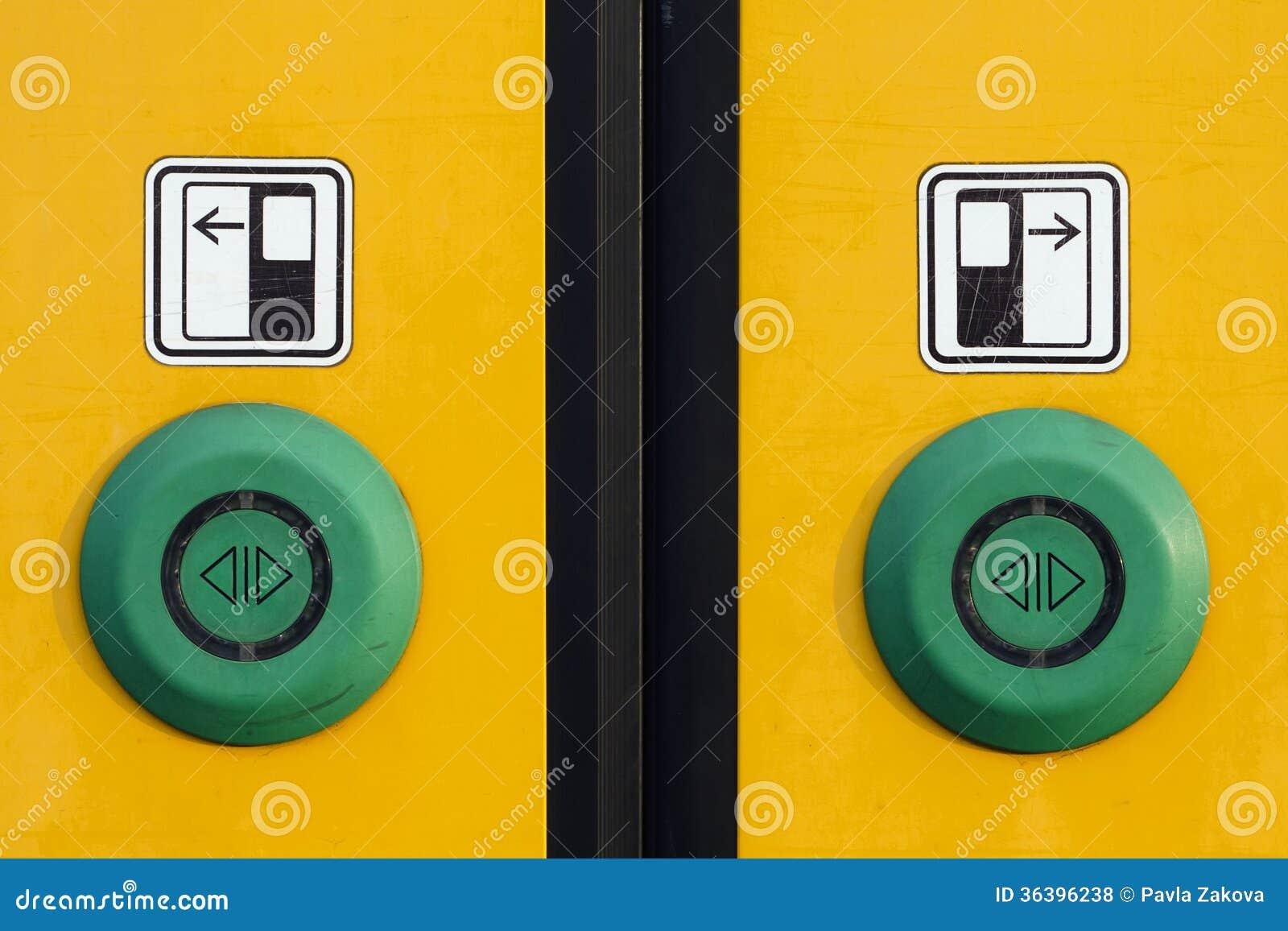 buttons door ... & Train Door Buttons Royalty Free Stock Photos - Image: 36396238 Pezcame.Com