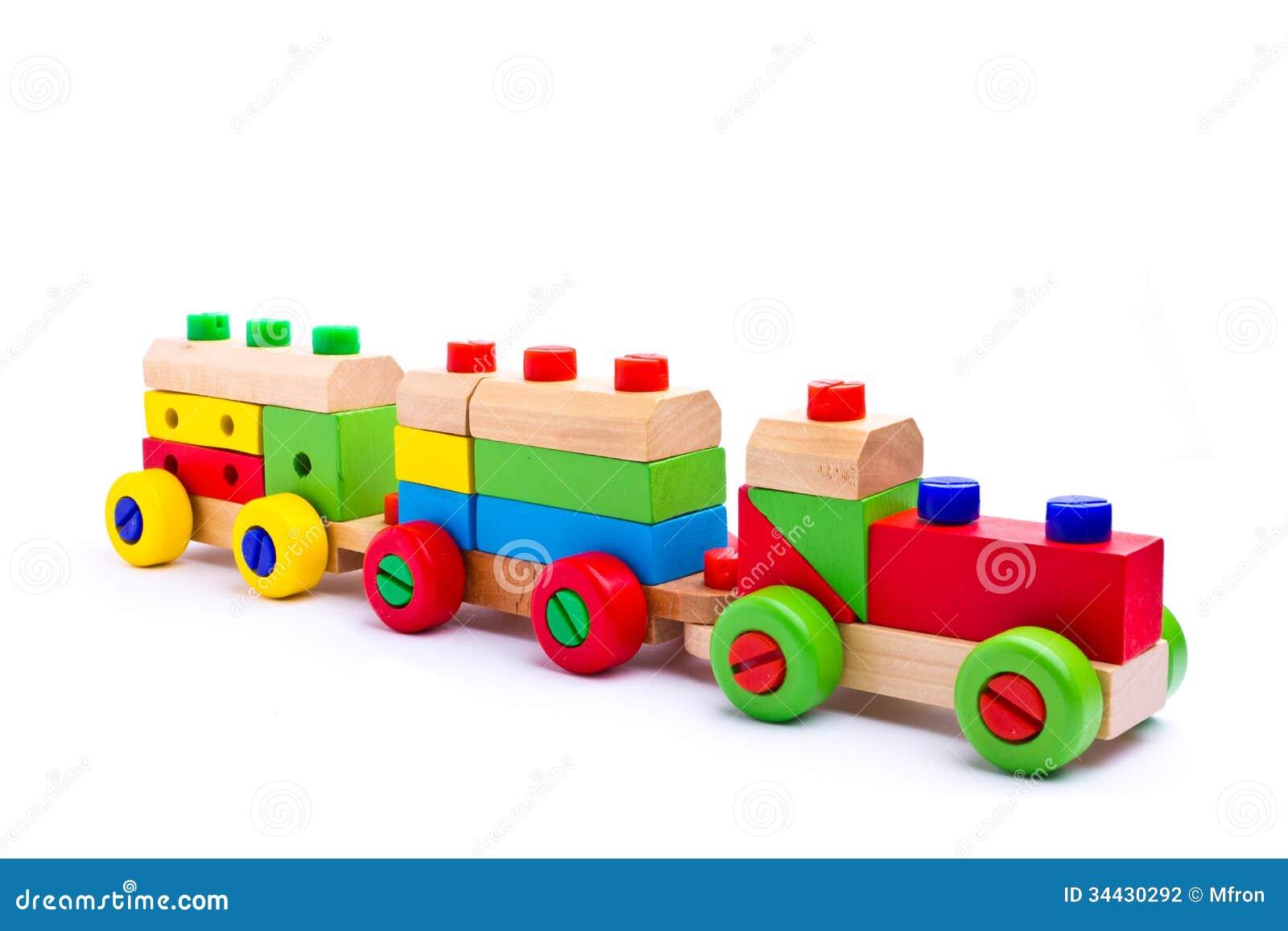 Train en bois coloré de jouet ~ Train De Bois Jouet