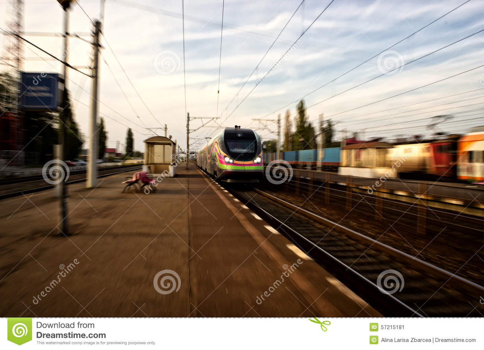 Train en Roumanie