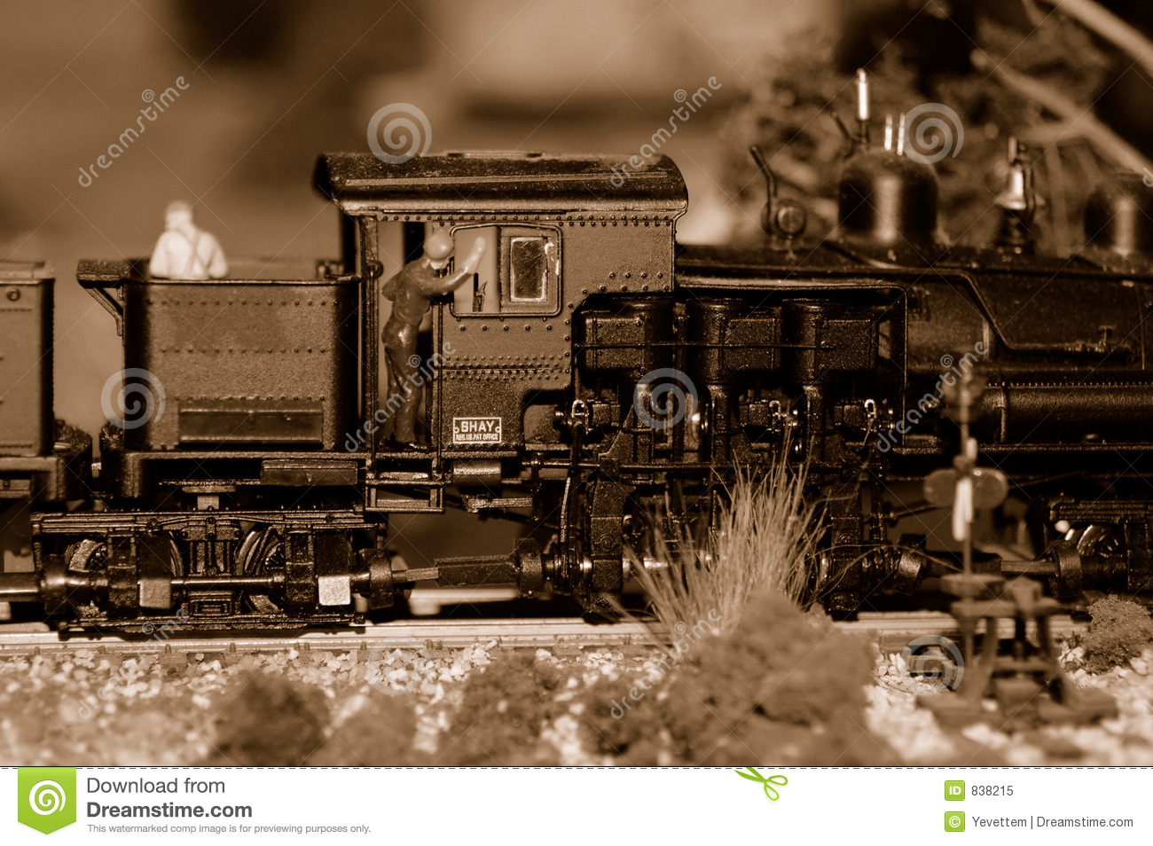 Train Engine and Engineer