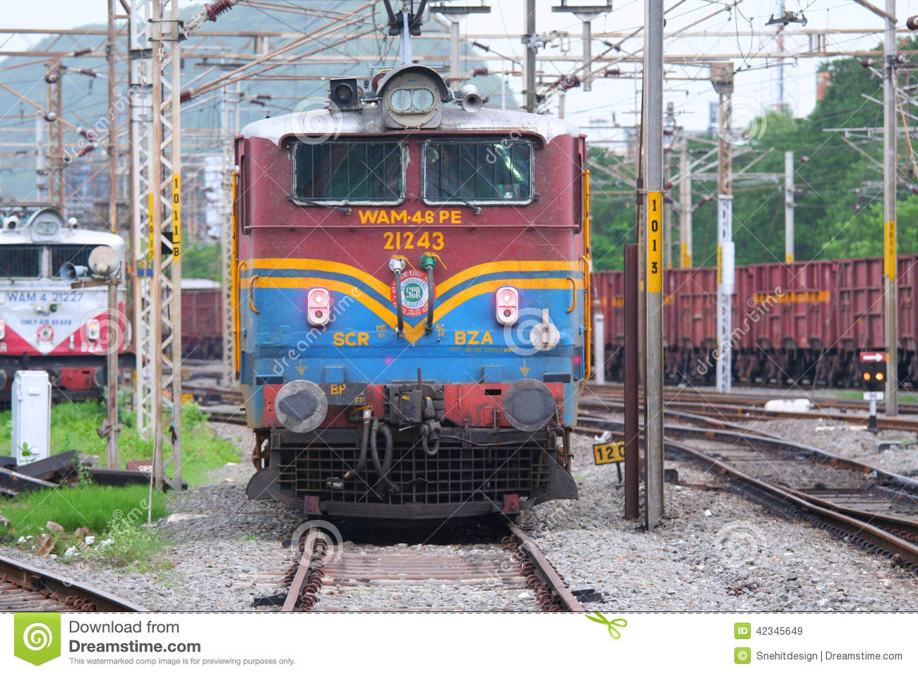 Train Engine Editorial Stock Image - Image: 42345649