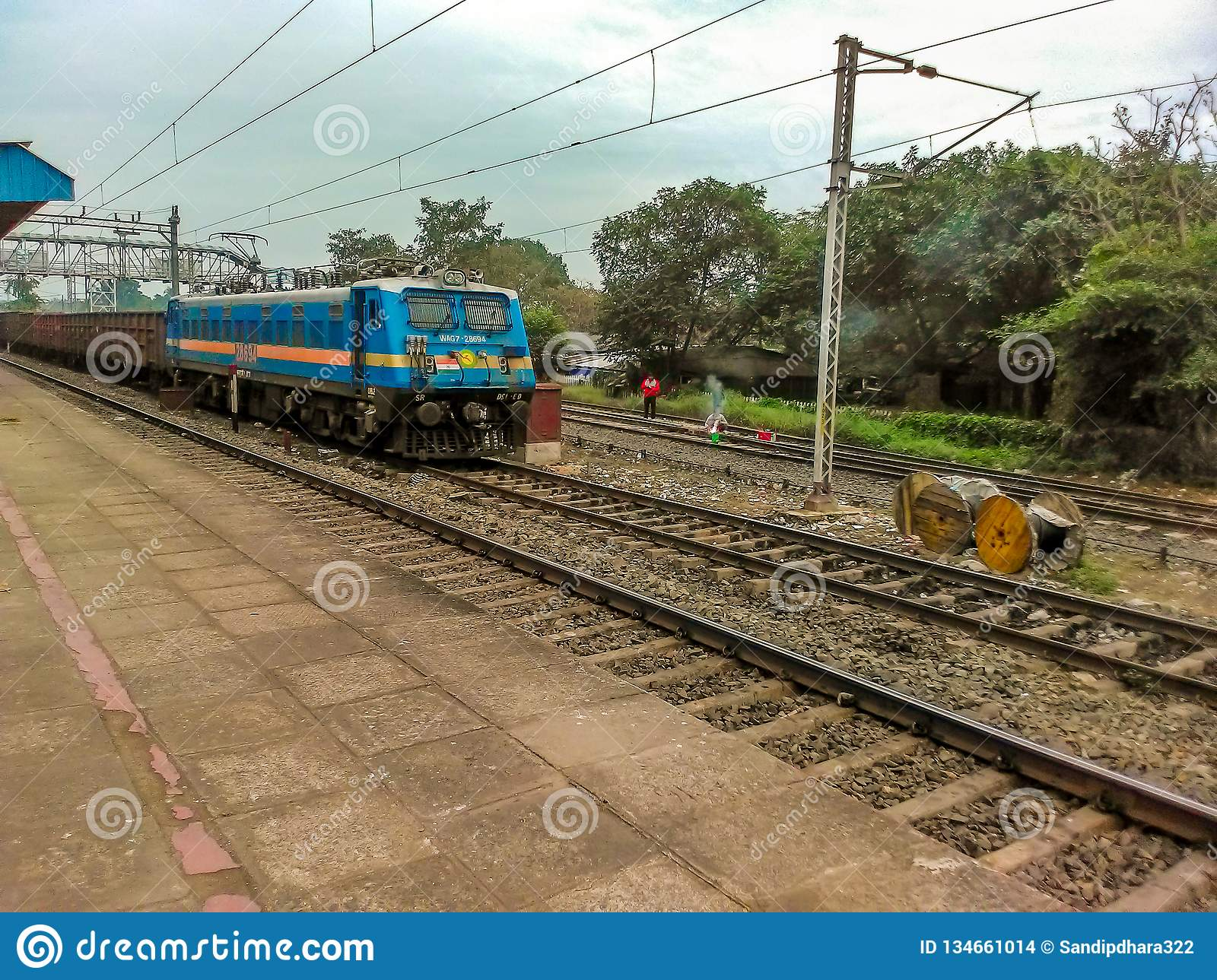 Running rail in India editorial stock image  Image of cargo - 134661014