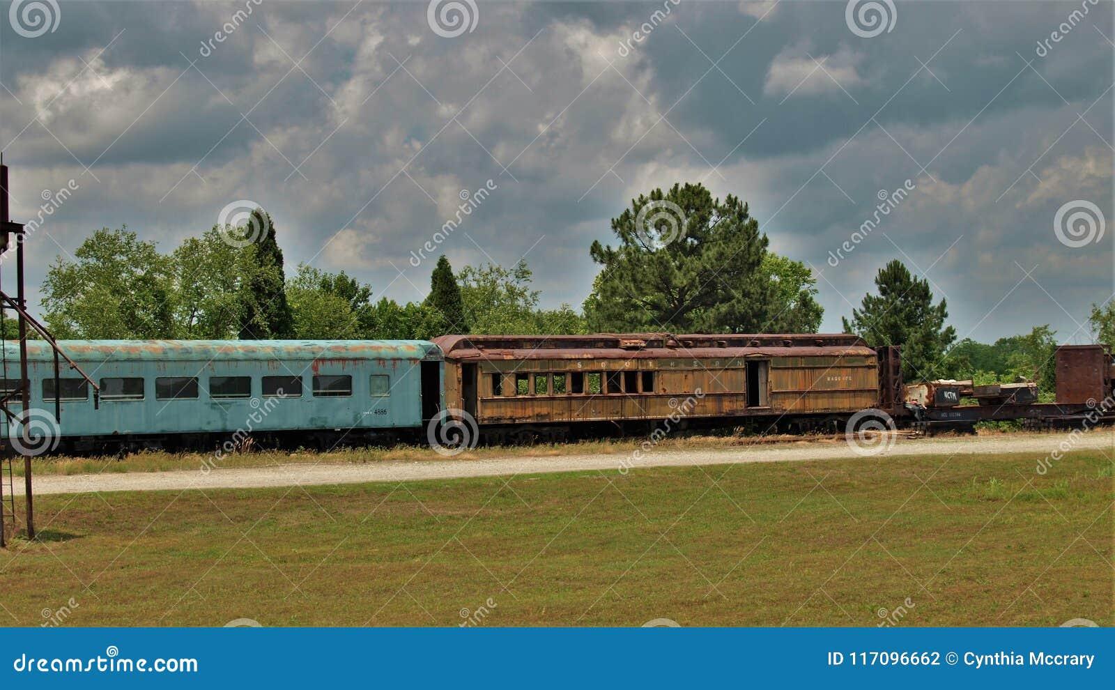 Train Graveyard At North Carolina Transportation Museum