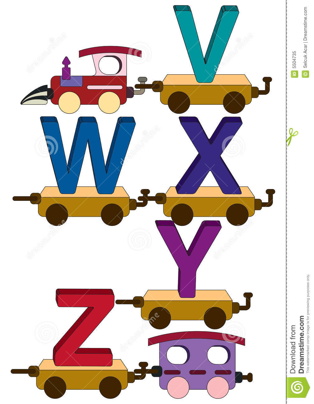 train letters and numbers