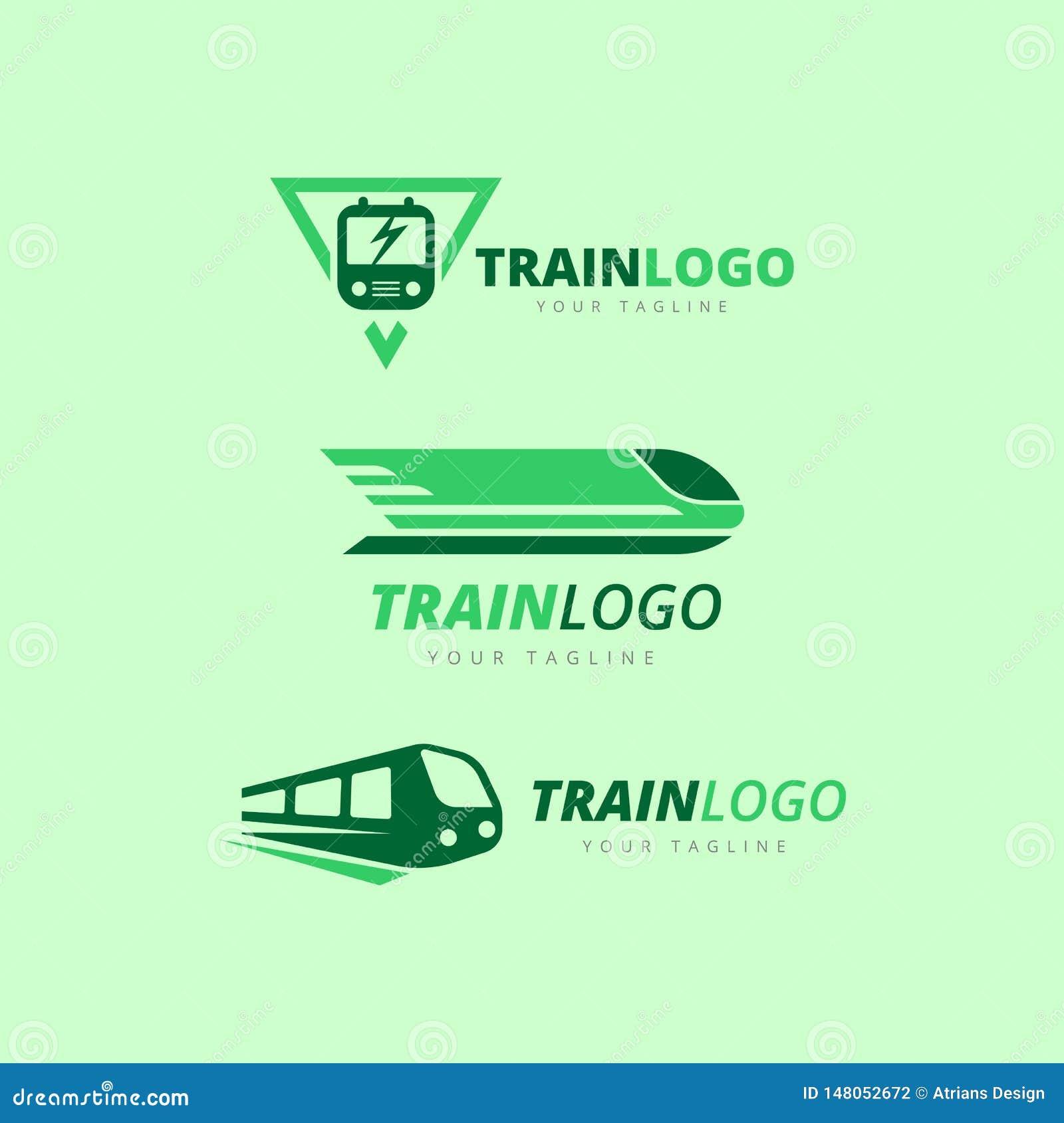 Train Logo Collection Train Logo Train Logos Stock Vector