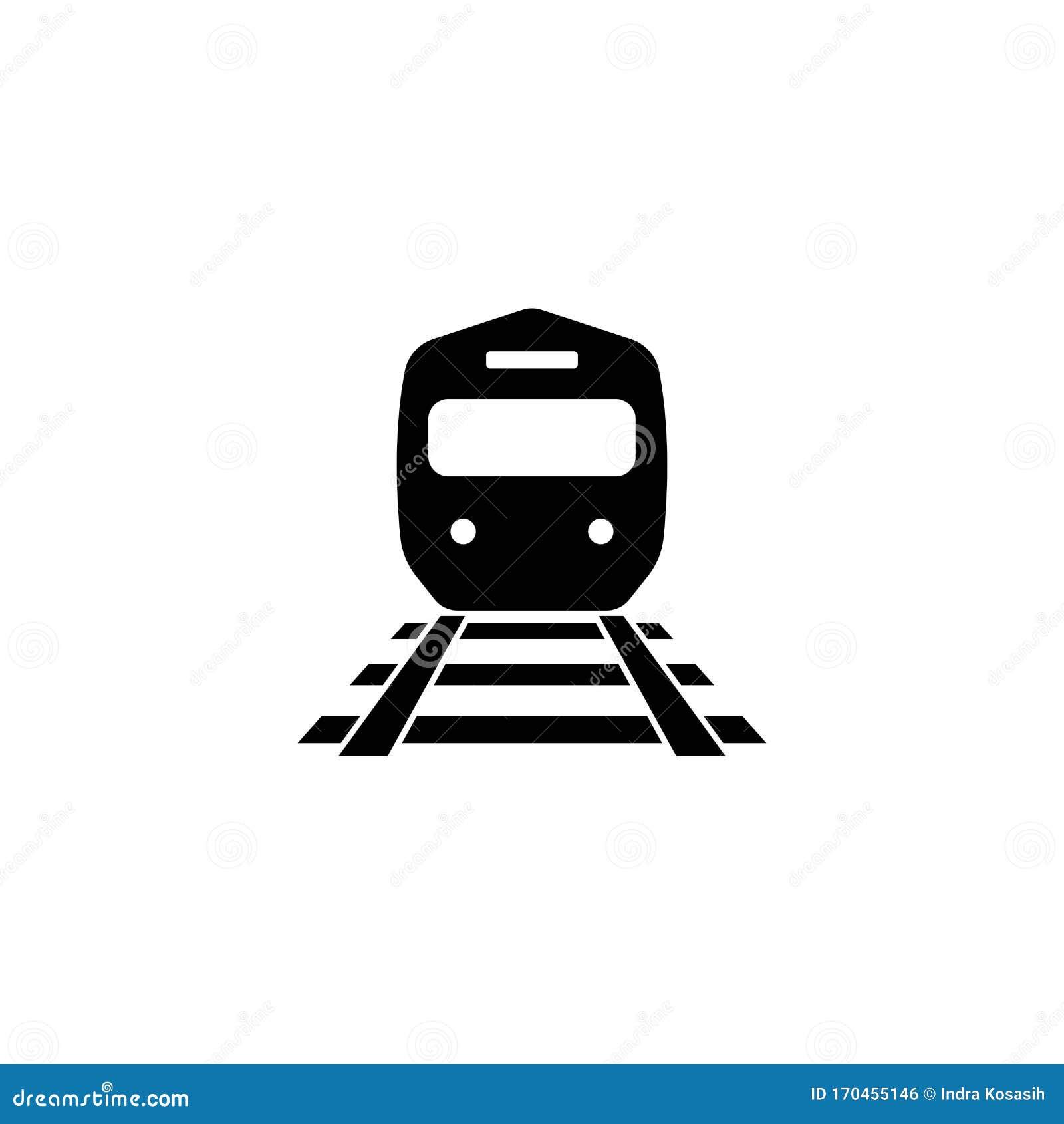 Train Logo Concept Icon Illustration Stock Vector Illustration