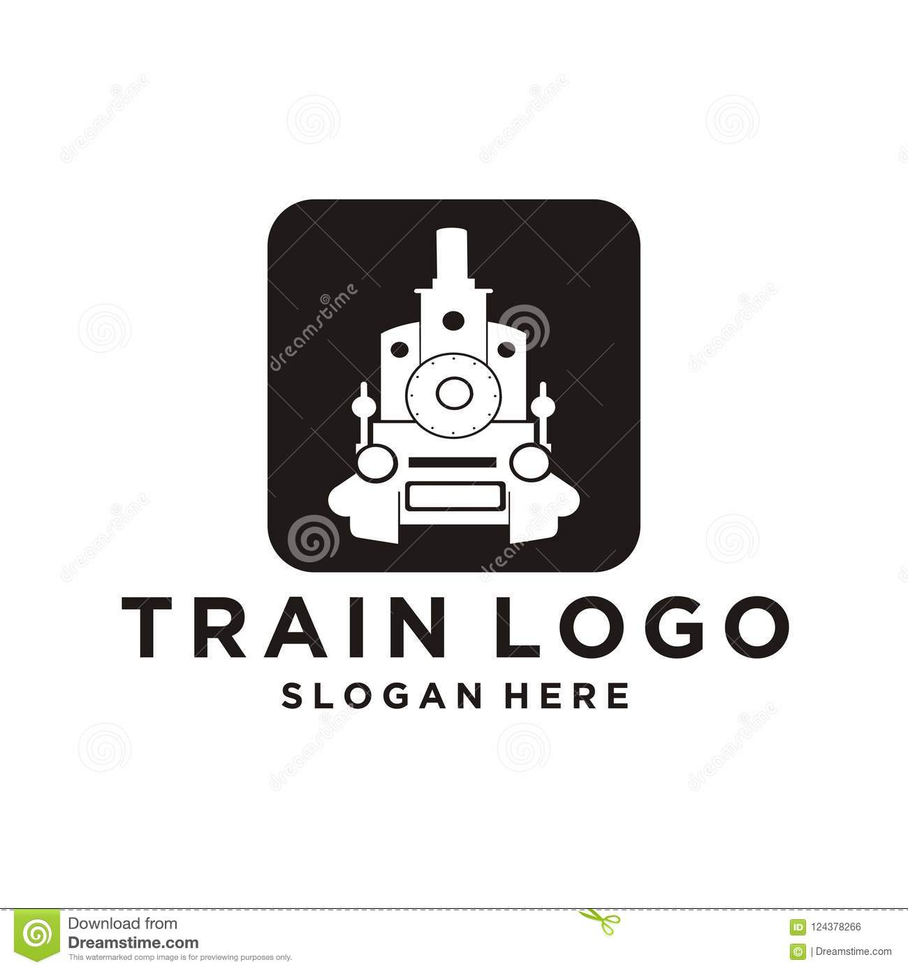 Train Logo Design Stock Vector Illustration Of Engine 124378266