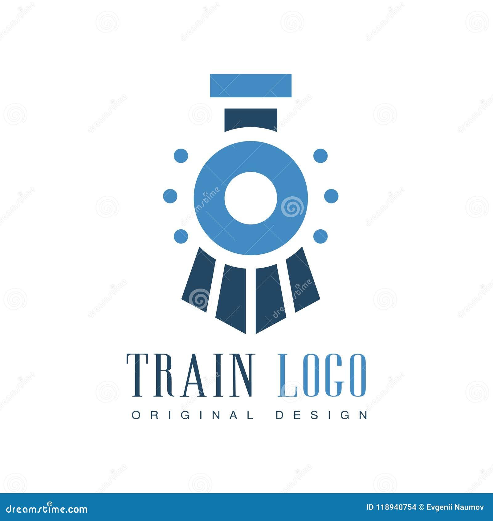 Train Logo Original Design Railway Transport Badge Vector