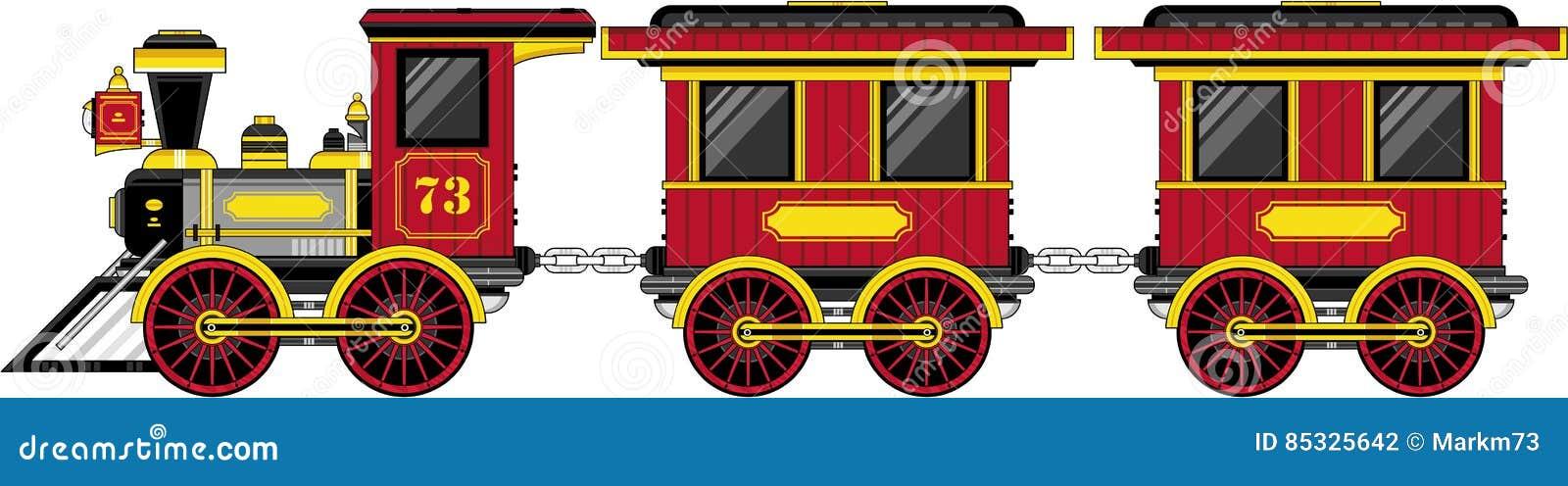 Train occidental de bande dessinée mignonne