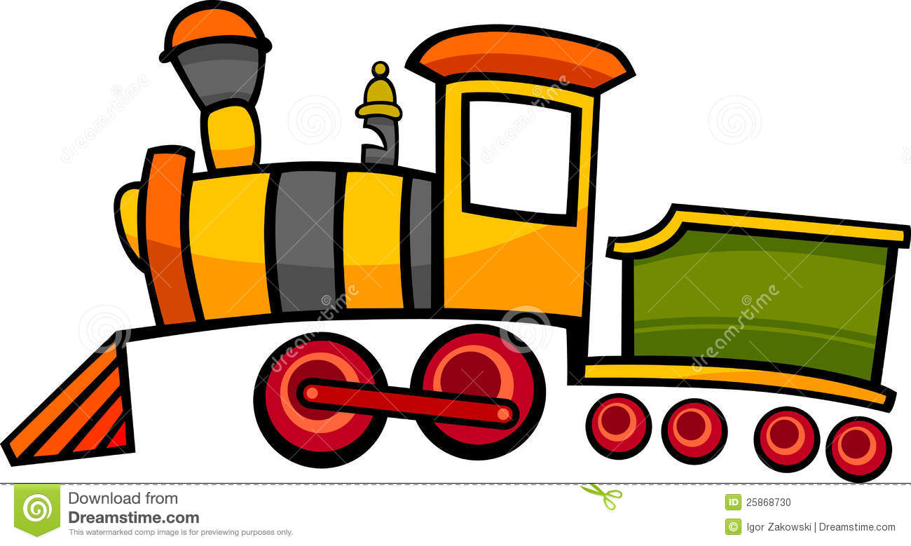 Train ou locomotive de dessin anim illustration de vecteur illustration du d colleur chariot - Train dessin anime chuggington ...