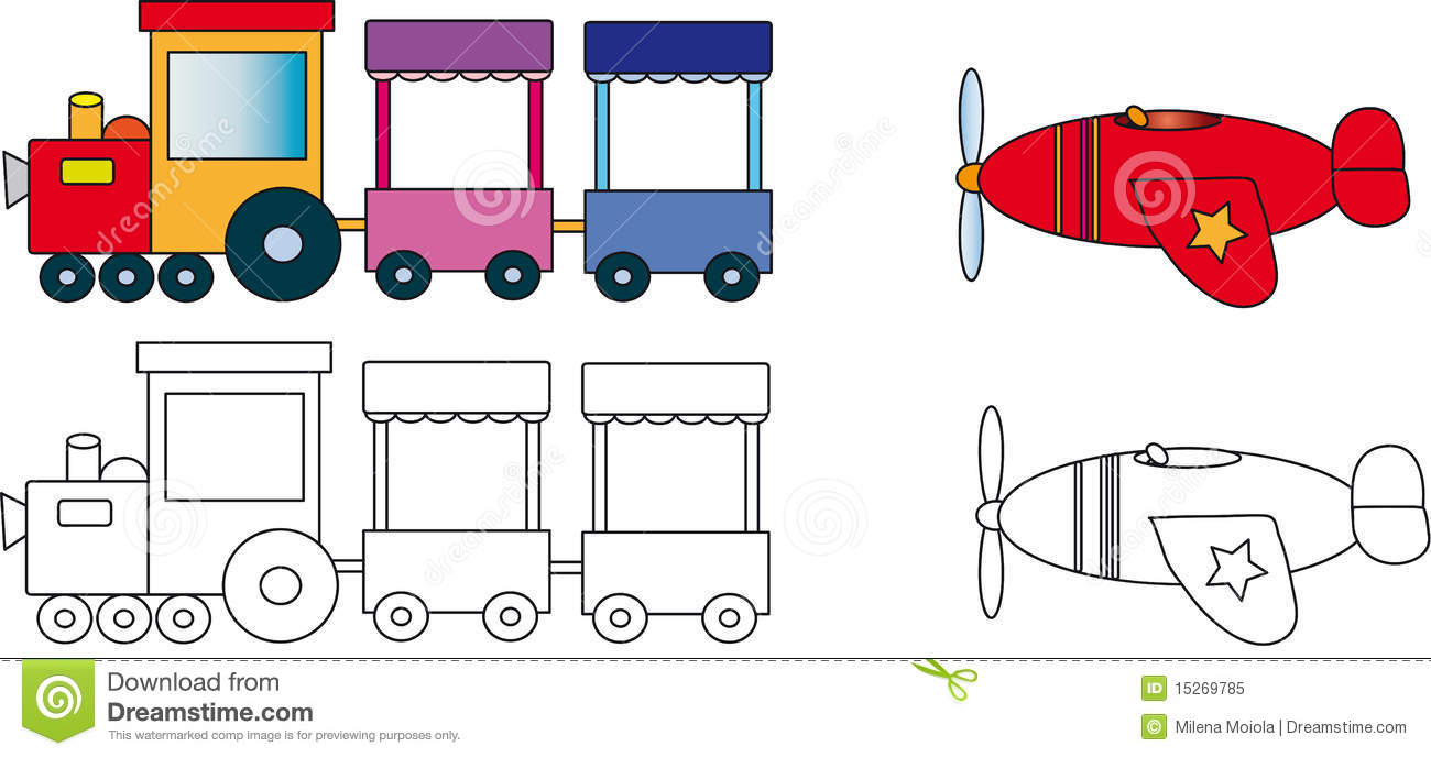Train And Plane Royalty Free Stock Photo Image 15269785