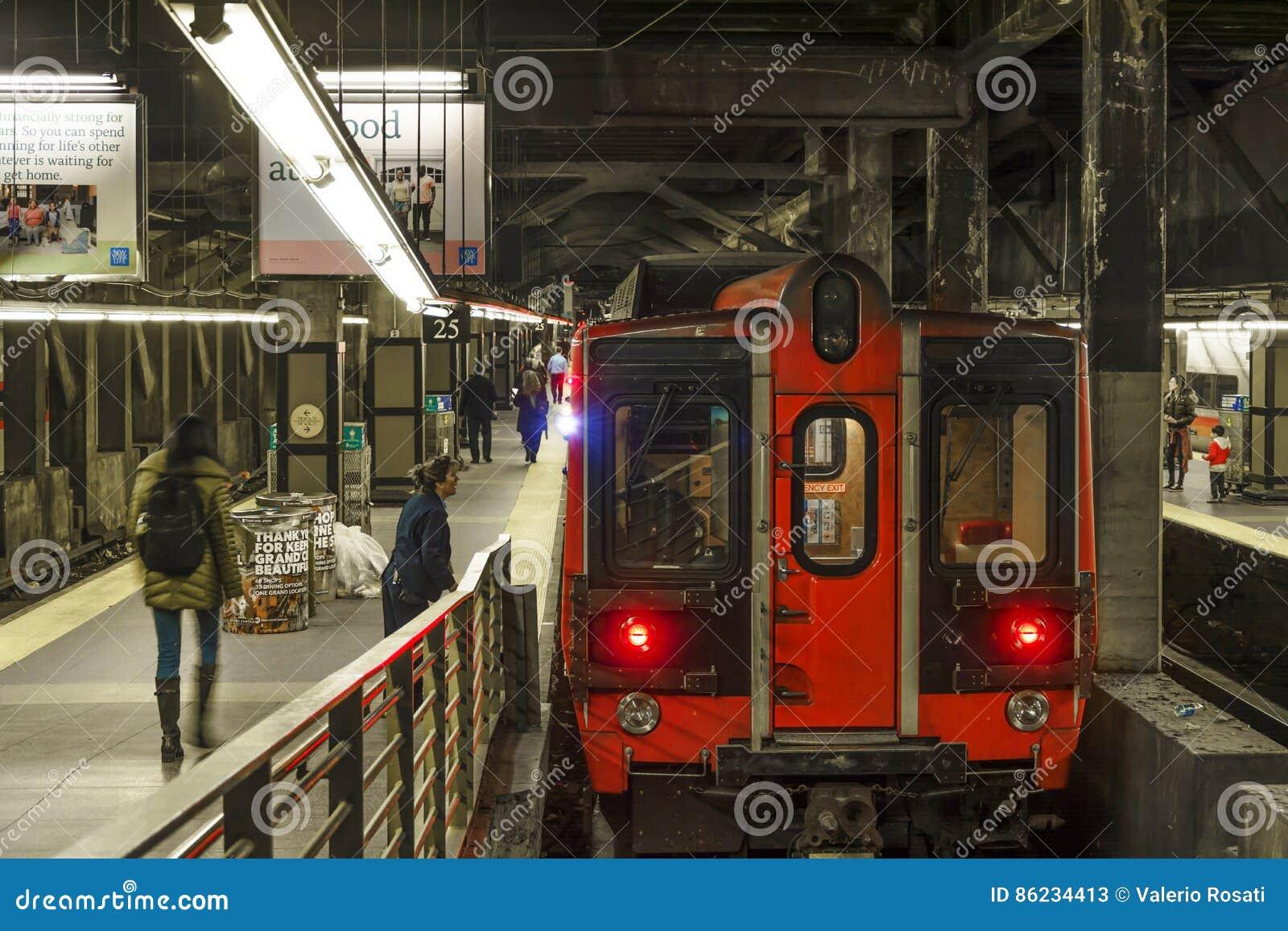 Train prêt à partir à New York